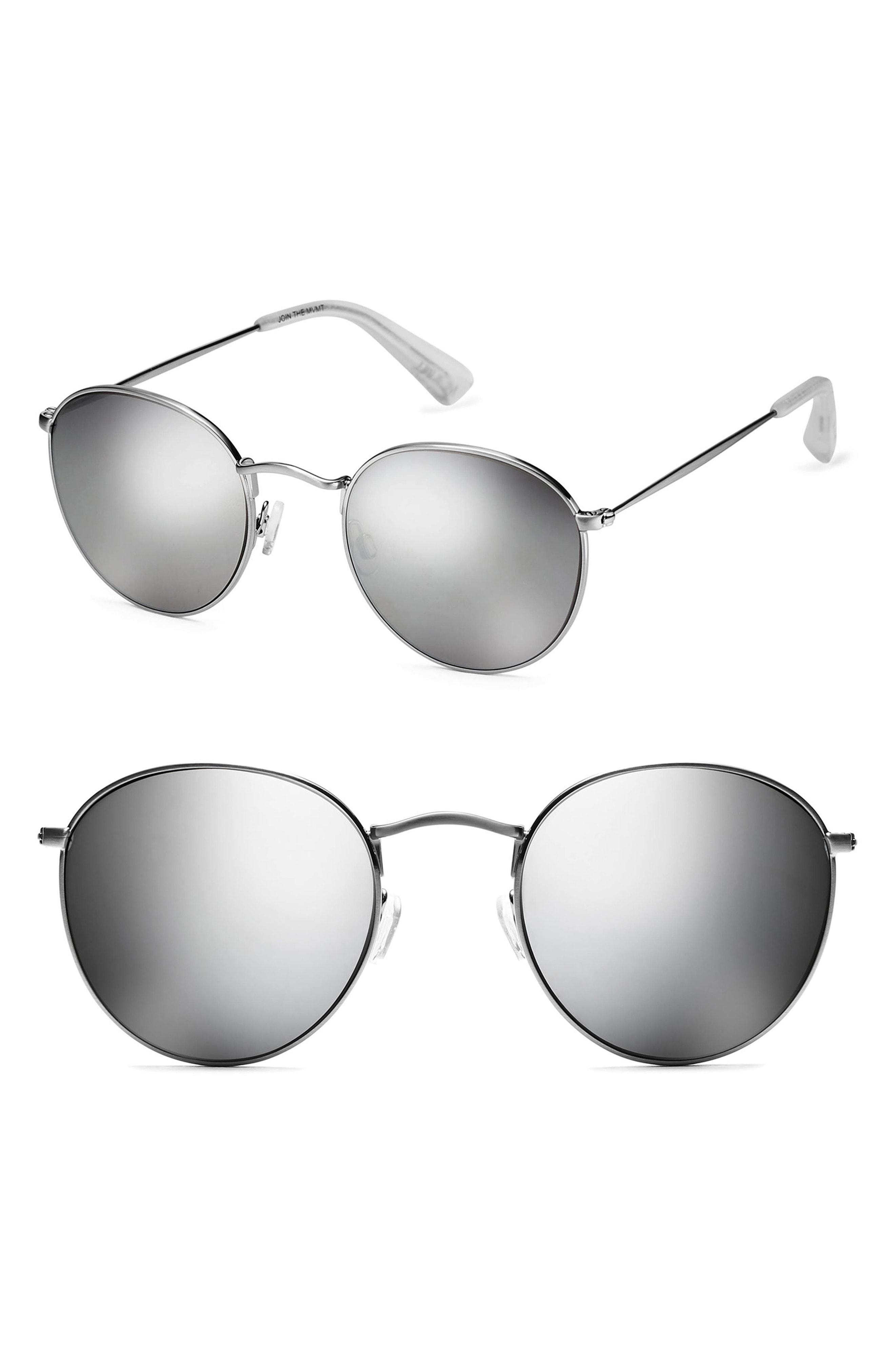 7b0132c370 Lyst - MVMT Icon 50mm Polarized Wire Sunglasses in Metallic for Men ...