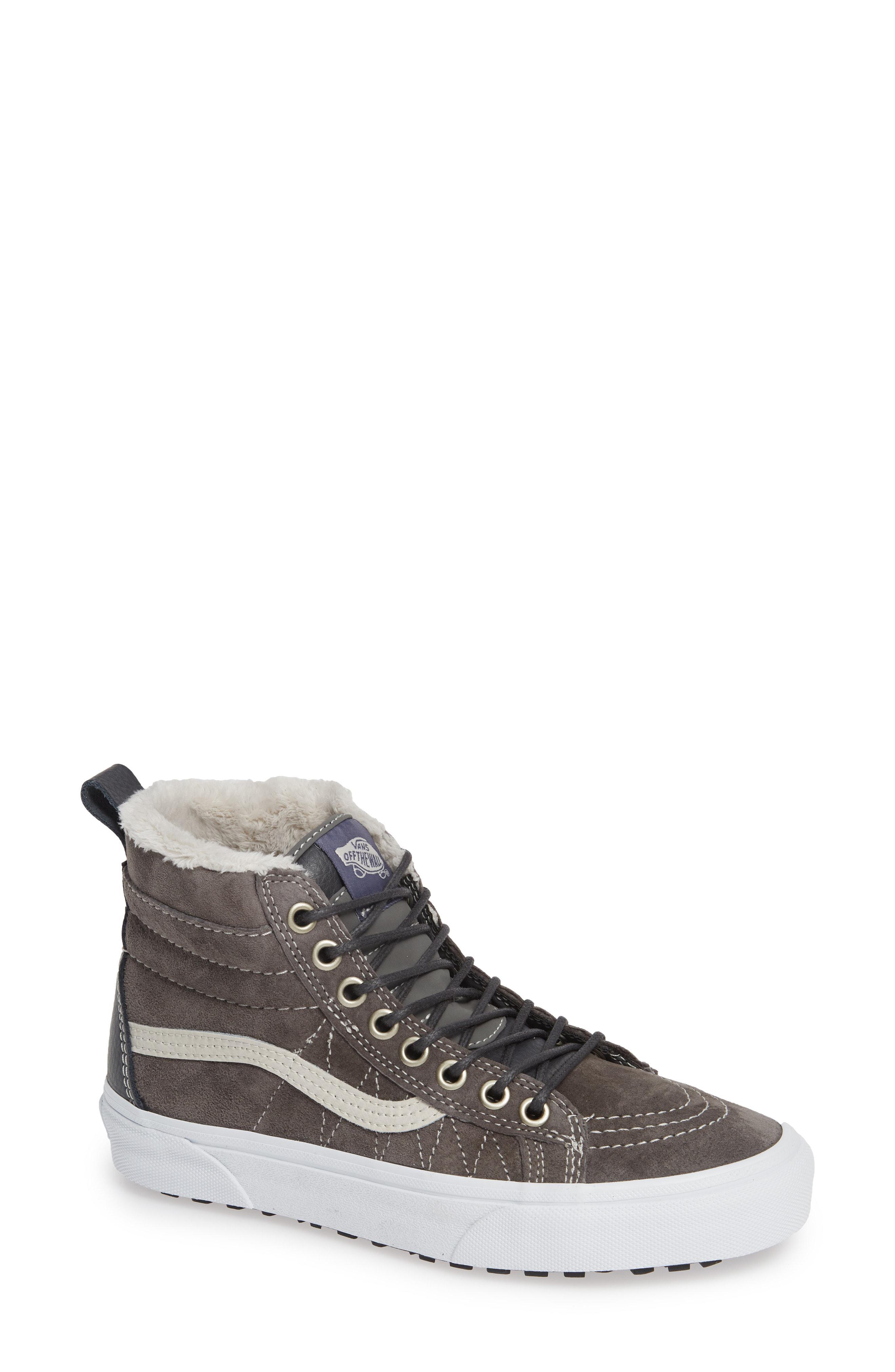 4fa06b9b041 Lyst - Vans Sk-8 Hi Mte Sneaker in Black