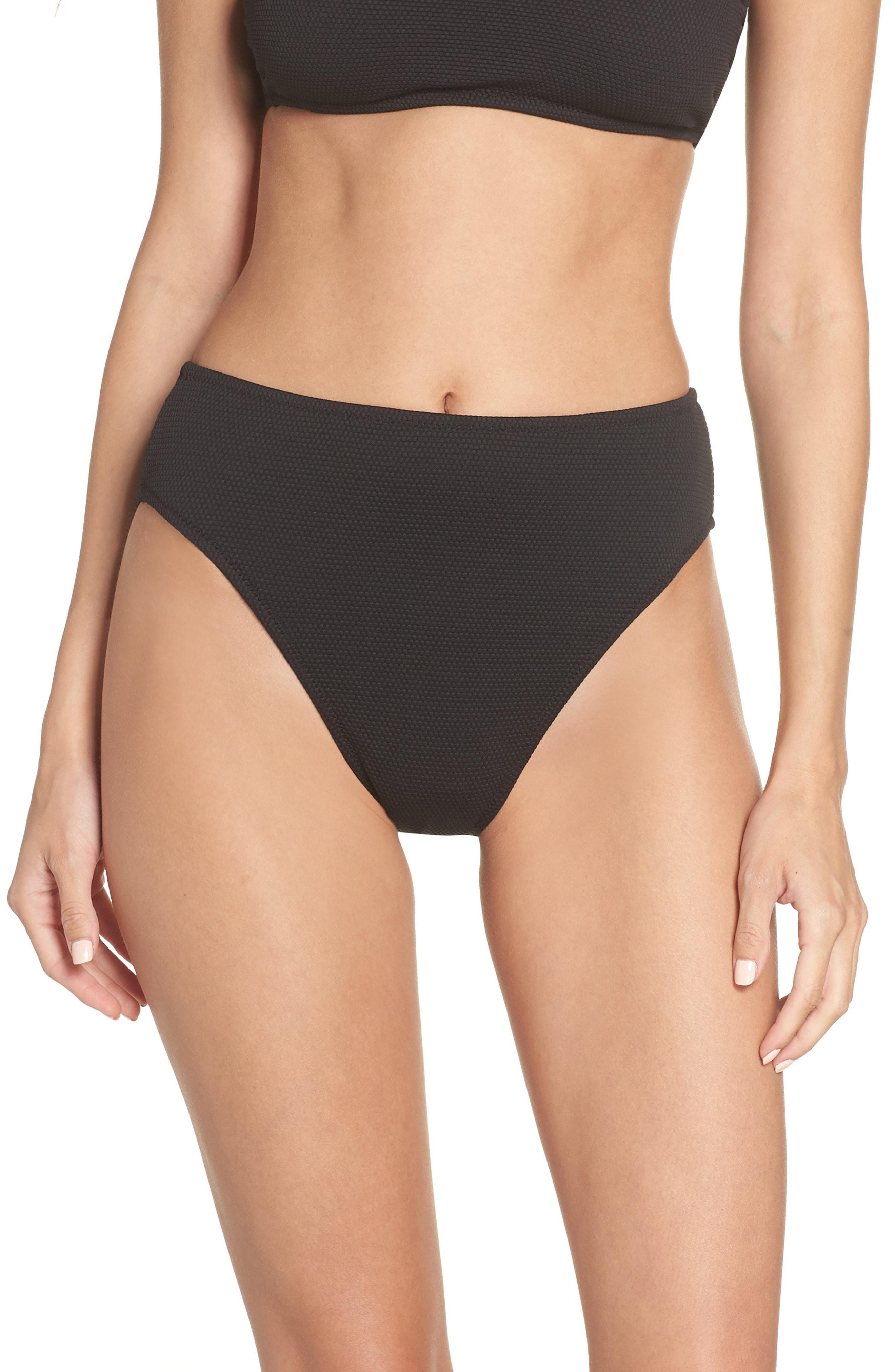dfe28787020 Leith - Black High Waist Bikini Bottoms - Lyst. View fullscreen