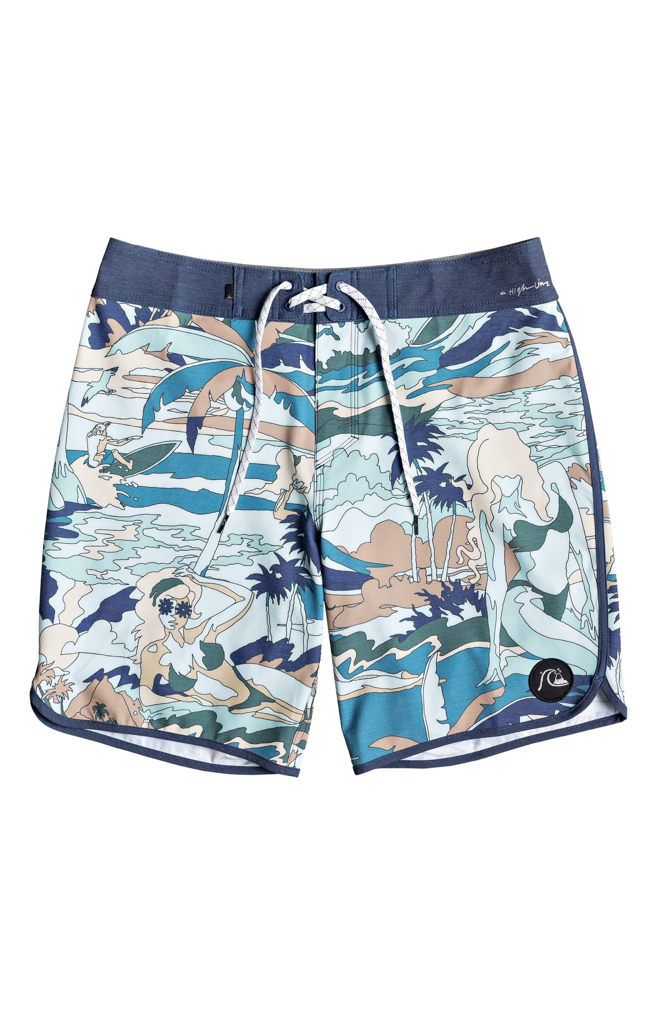 08c44bc34 Quiksilver Highline Feelin  Fine Board Shorts in Blue for Men - Lyst