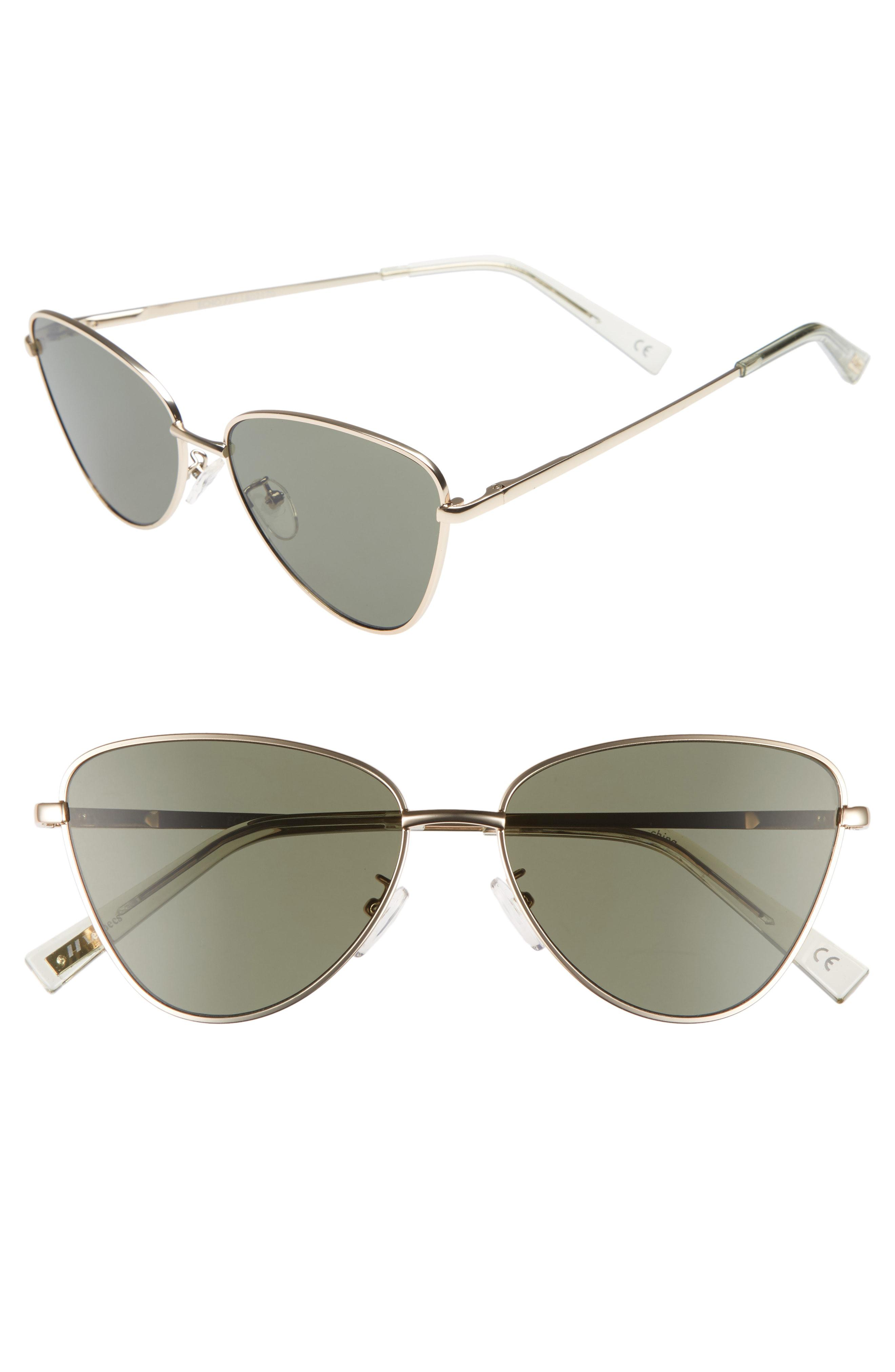 7d492a4776 Le Specs Echo 50mm Butterfly Sunglasses in Metallic - Lyst