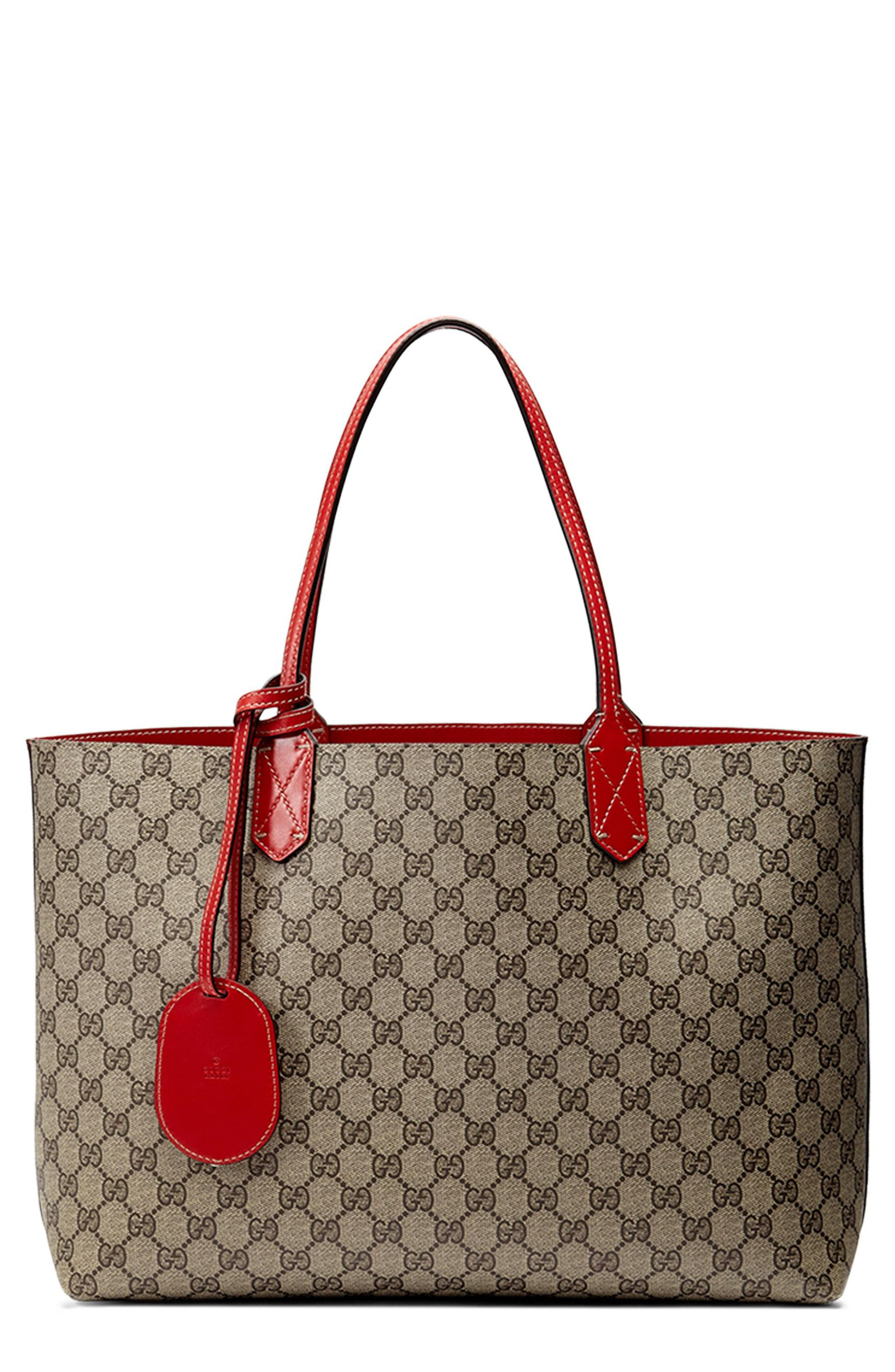 d62a241f60a2 Gucci - Brown Medium Turnaround Reversible Leather Tote - Lyst. View  fullscreen