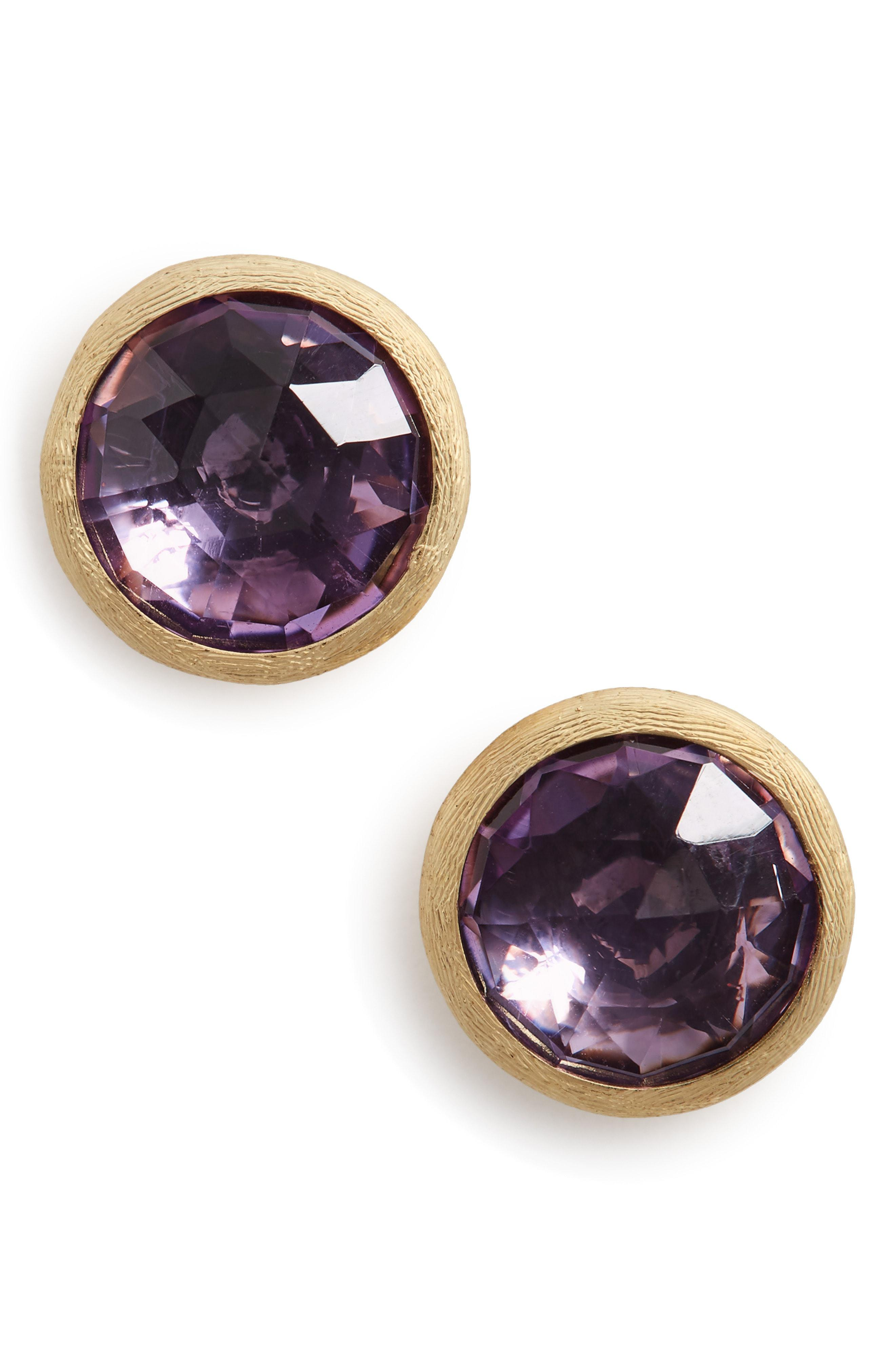 bb269d1f6ddd Lyst - Marco Bicego  jaipur  Stone Stud Earrings in Purple - Save 20.0%