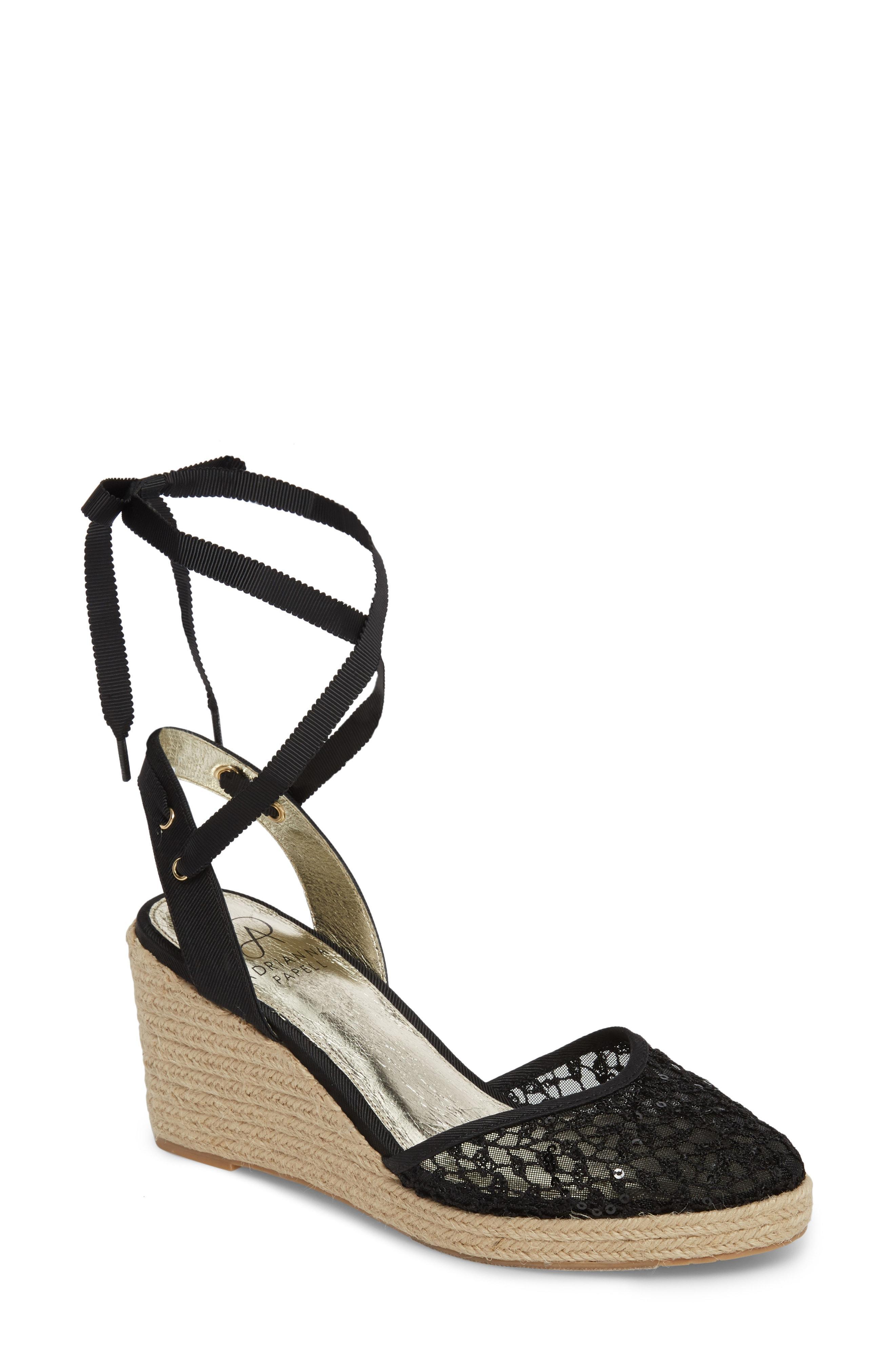 3f90c02b3e0 Lyst - Adrianna Papell Pamela Espadrille Wedge Sandal in Black