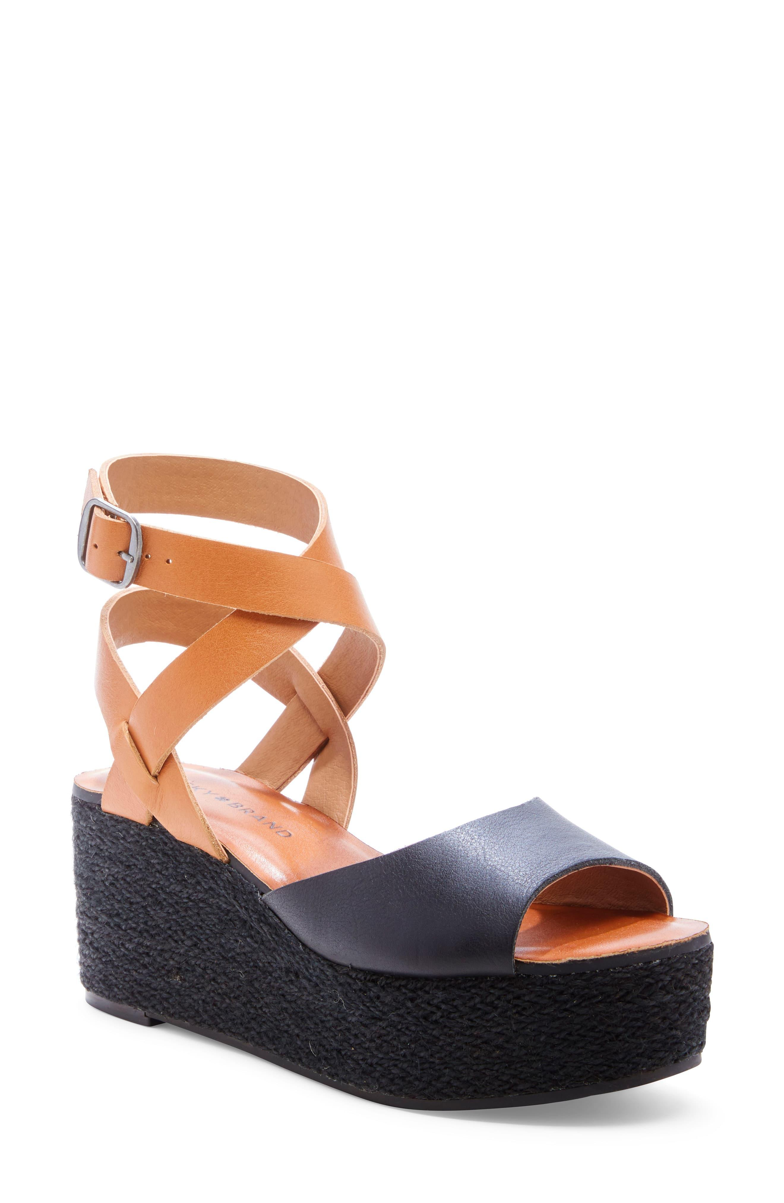 dcedf0e1a0c Lucky Brand Ginny Platform Sandal in Brown - Lyst