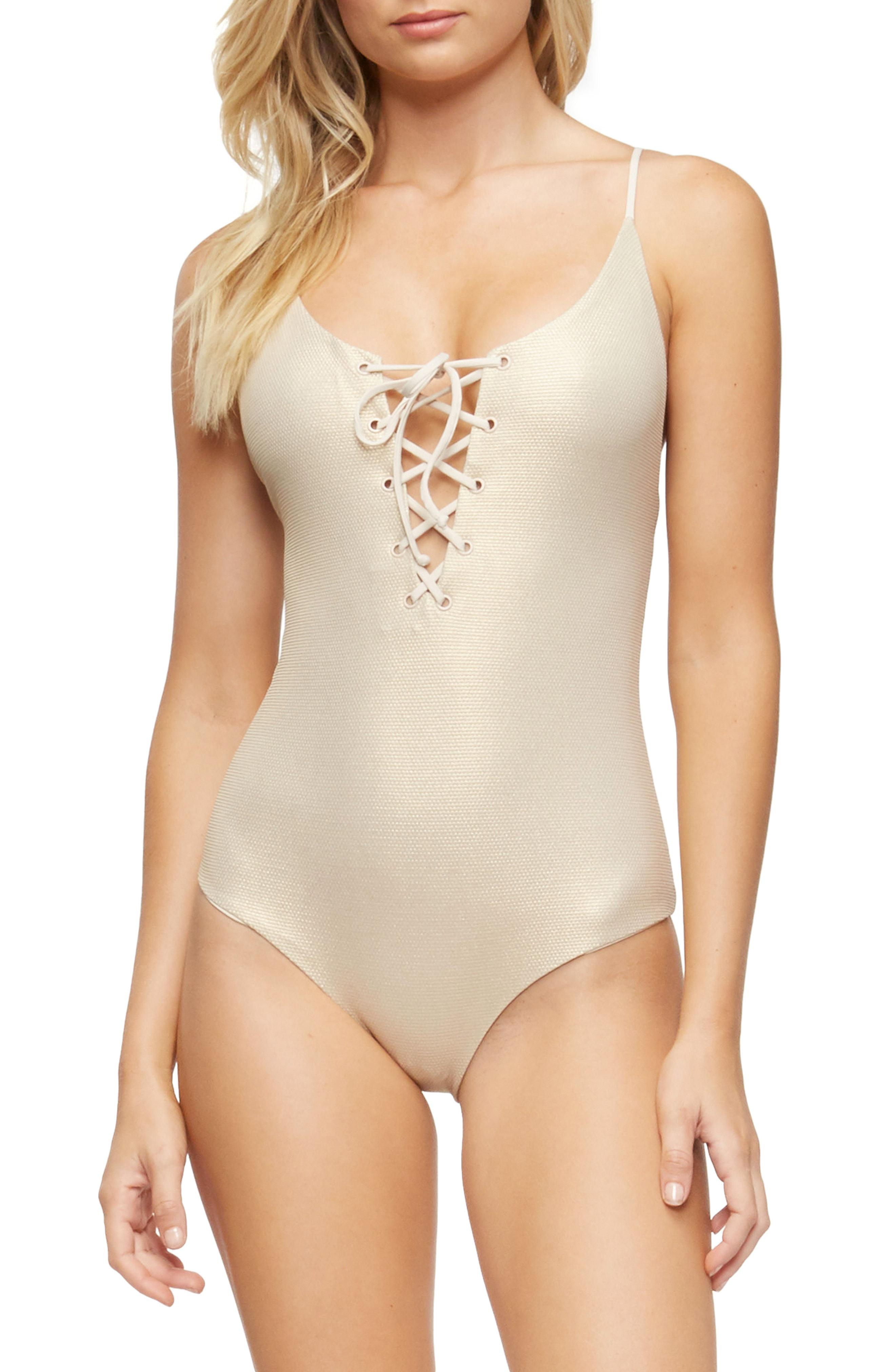 2446dd0bd347a Lyst - Tavik Monahan One-piece Swimsuit in Natural - Save 41%