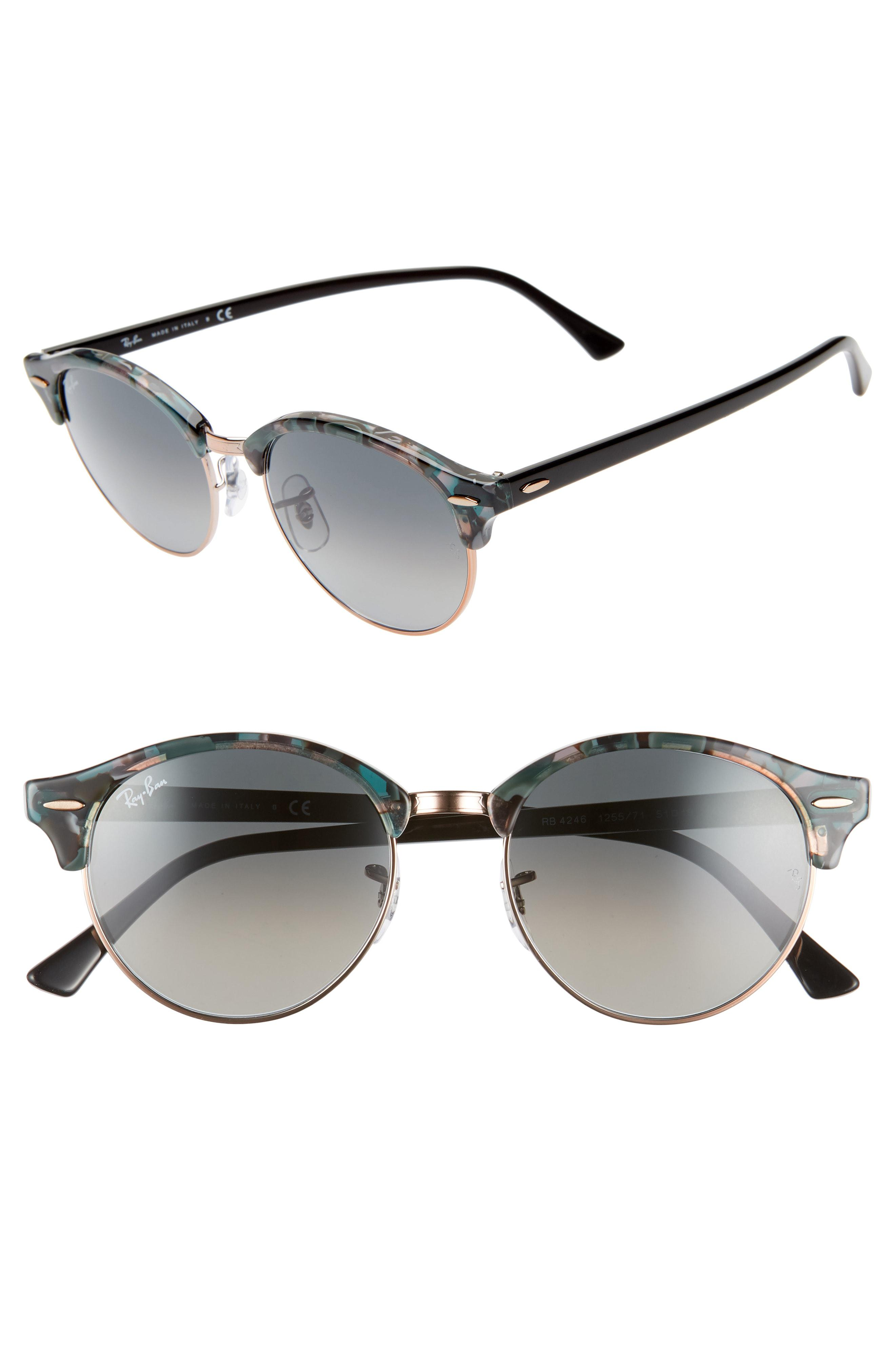 2c52a1e417 Lyst - Ray-Ban Clubround 51mm Round Sunglasses in Brown