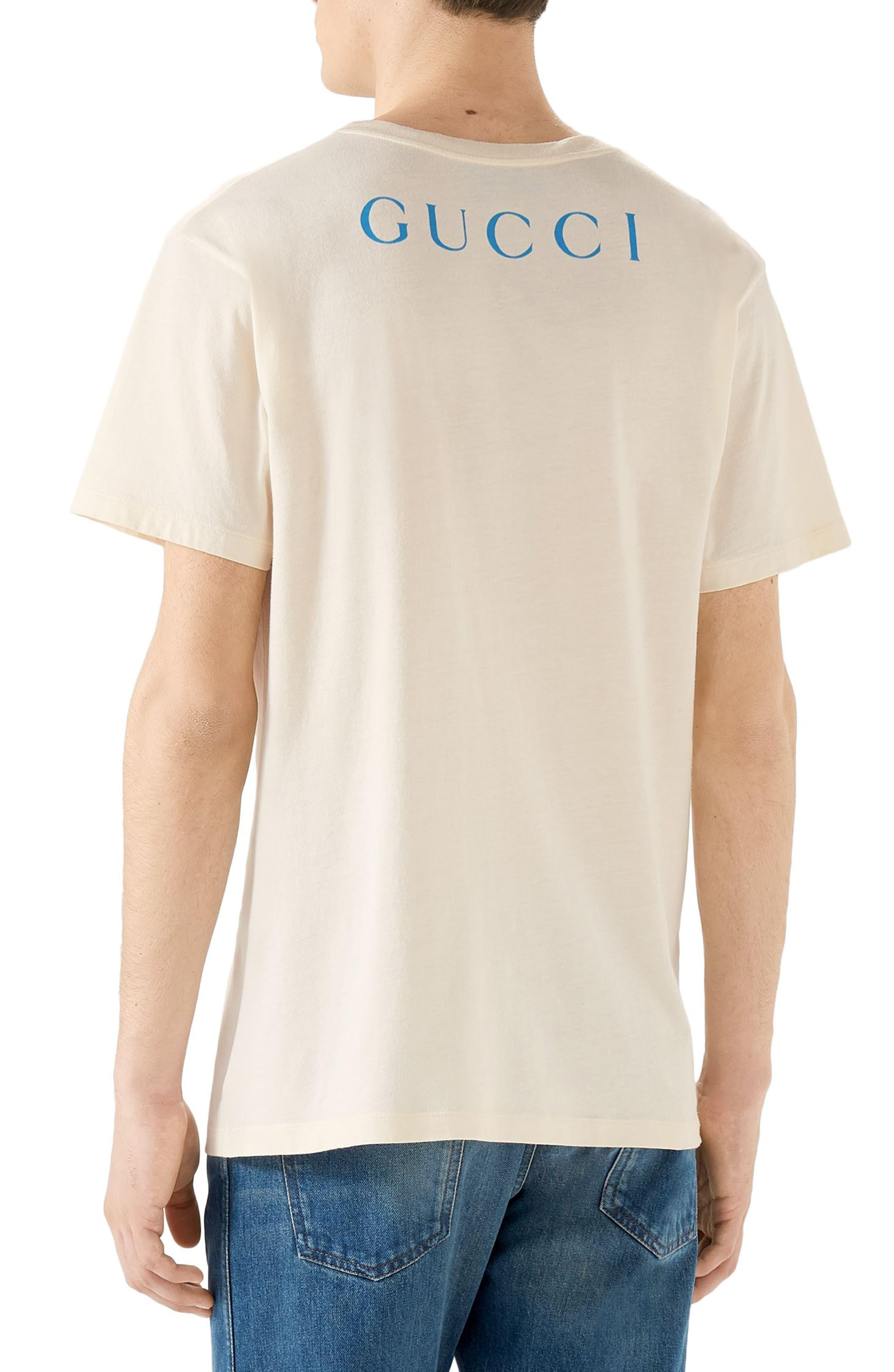 c422ac560 Gucci Paramount Logo T-shirt in Blue for Men - Lyst