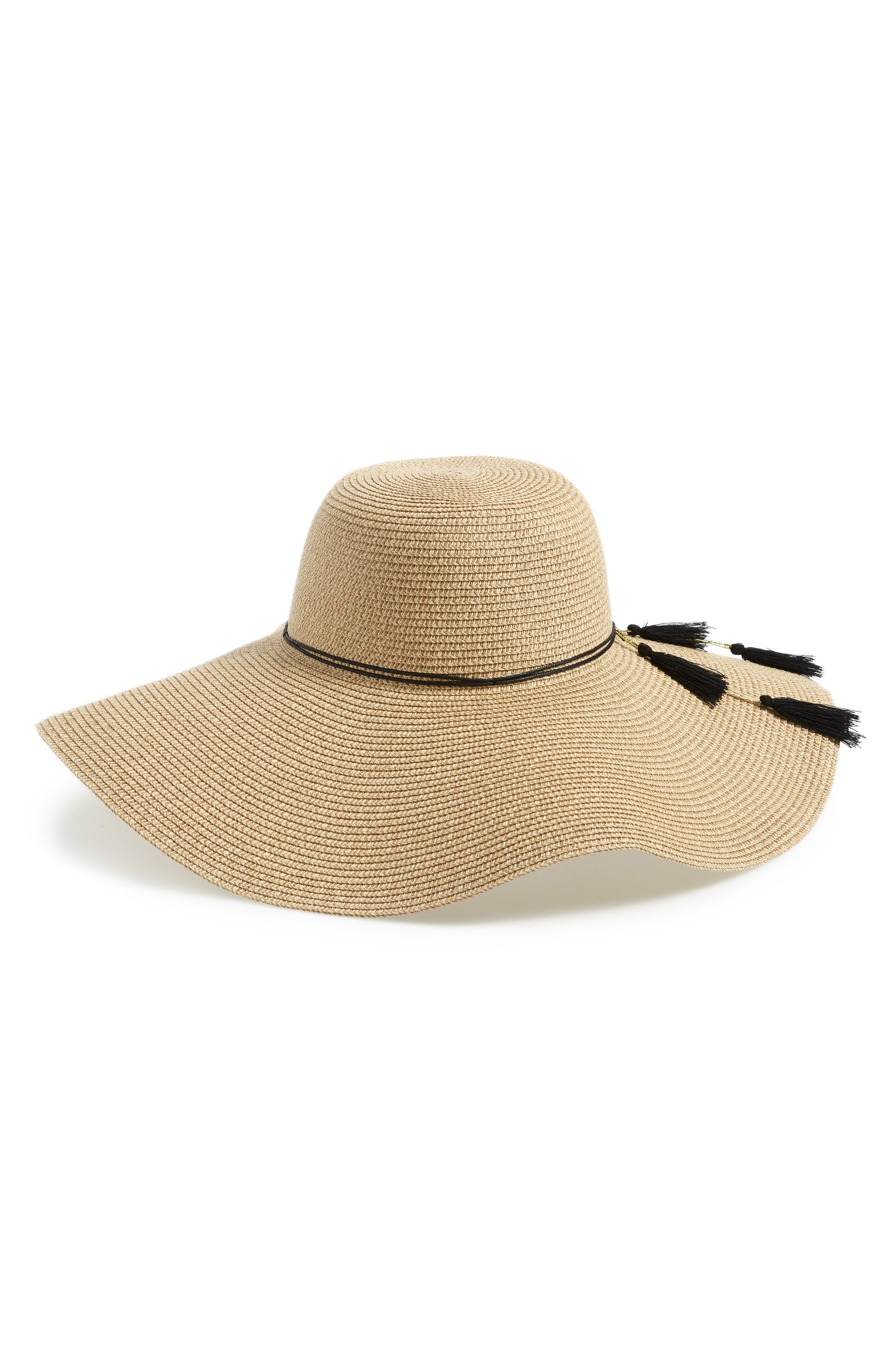 1801f0d88cb Lyst - Shiraleah Hermosa Floppy Brim Straw Hat in Natural