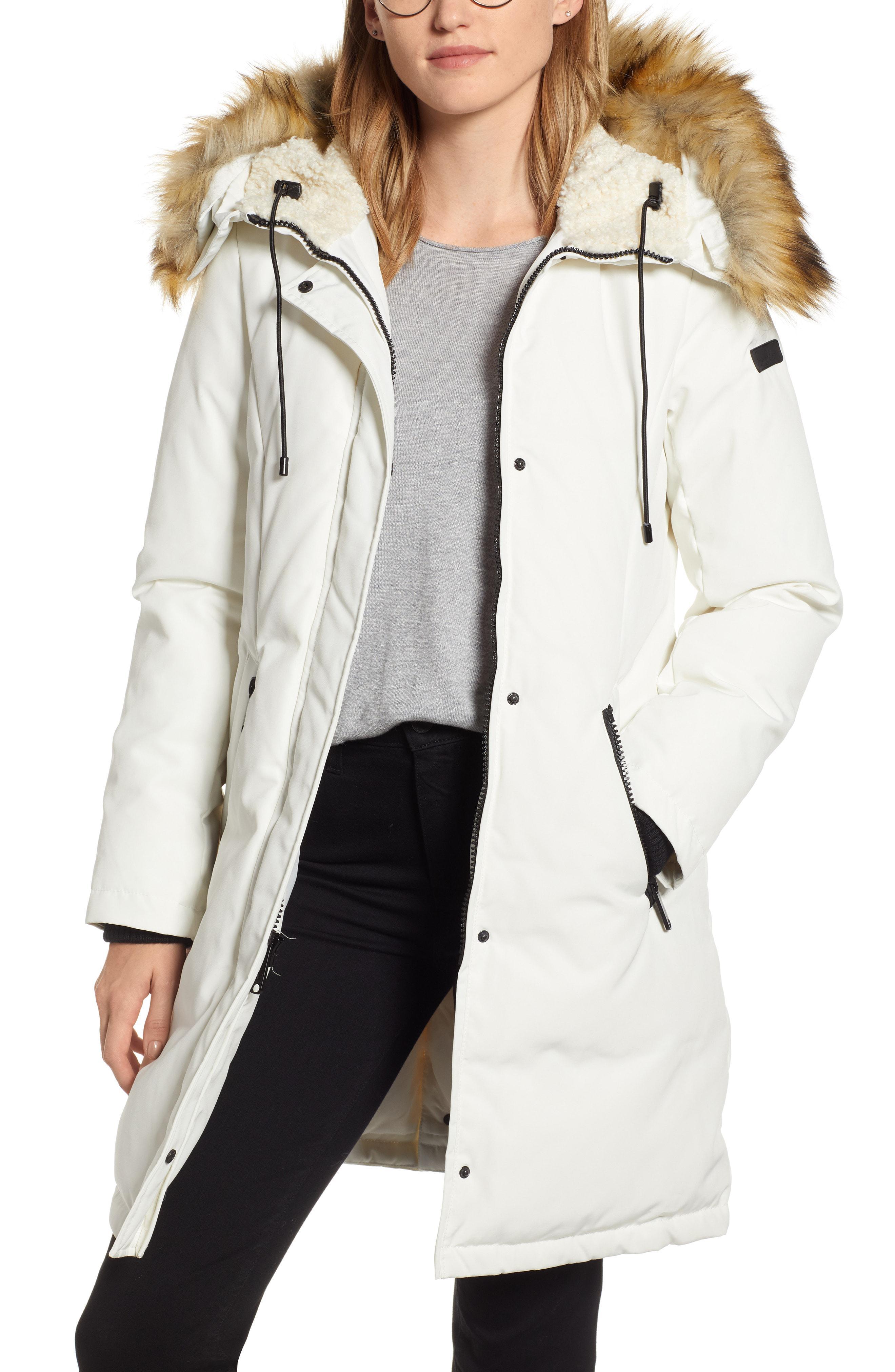 29e125e6d Sam Edelman. Women s Faux Fur Trim Down Jacket