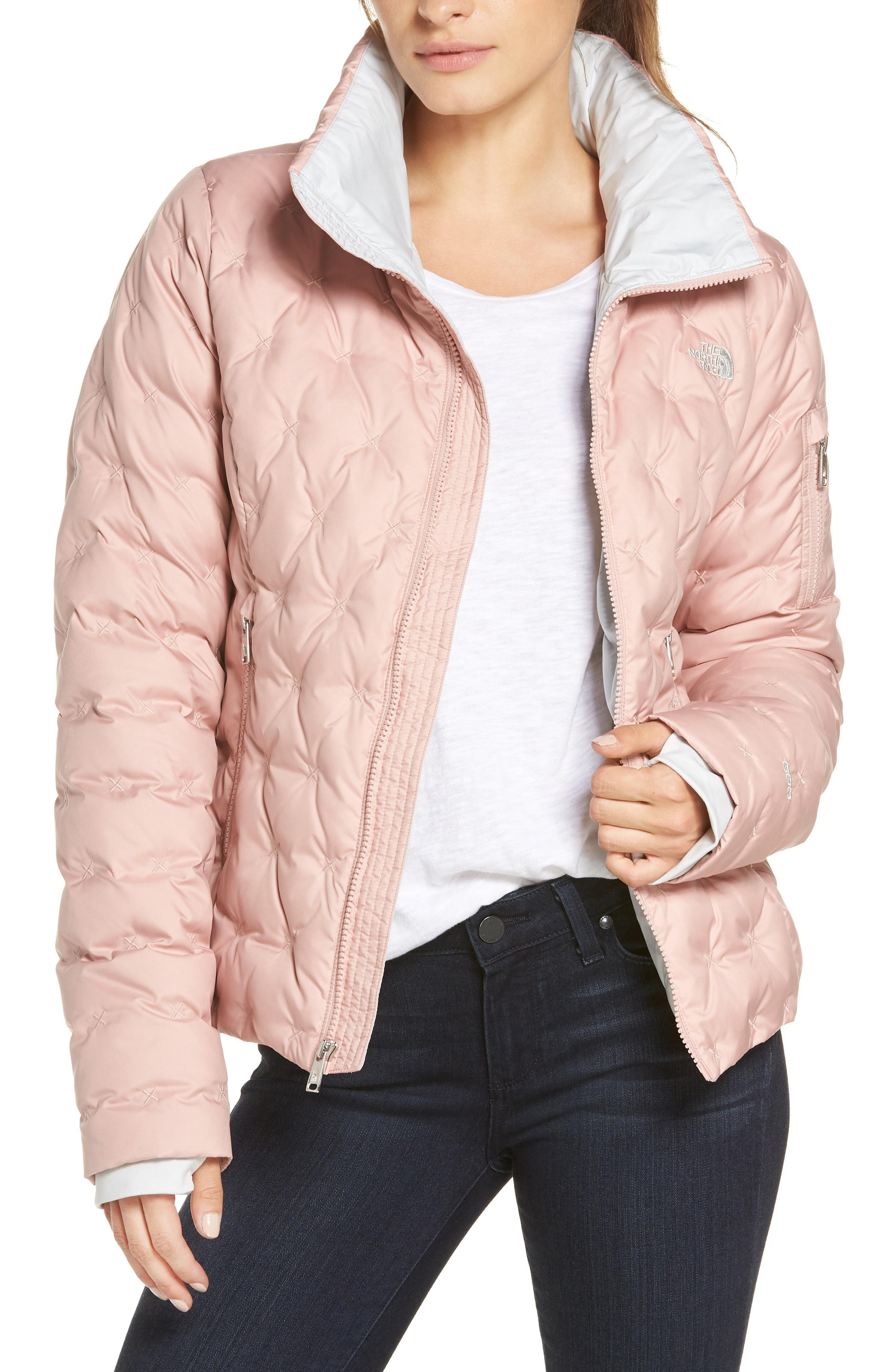 c63acafee8 The North Face Holladown Crop Jacket in Pink - Lyst