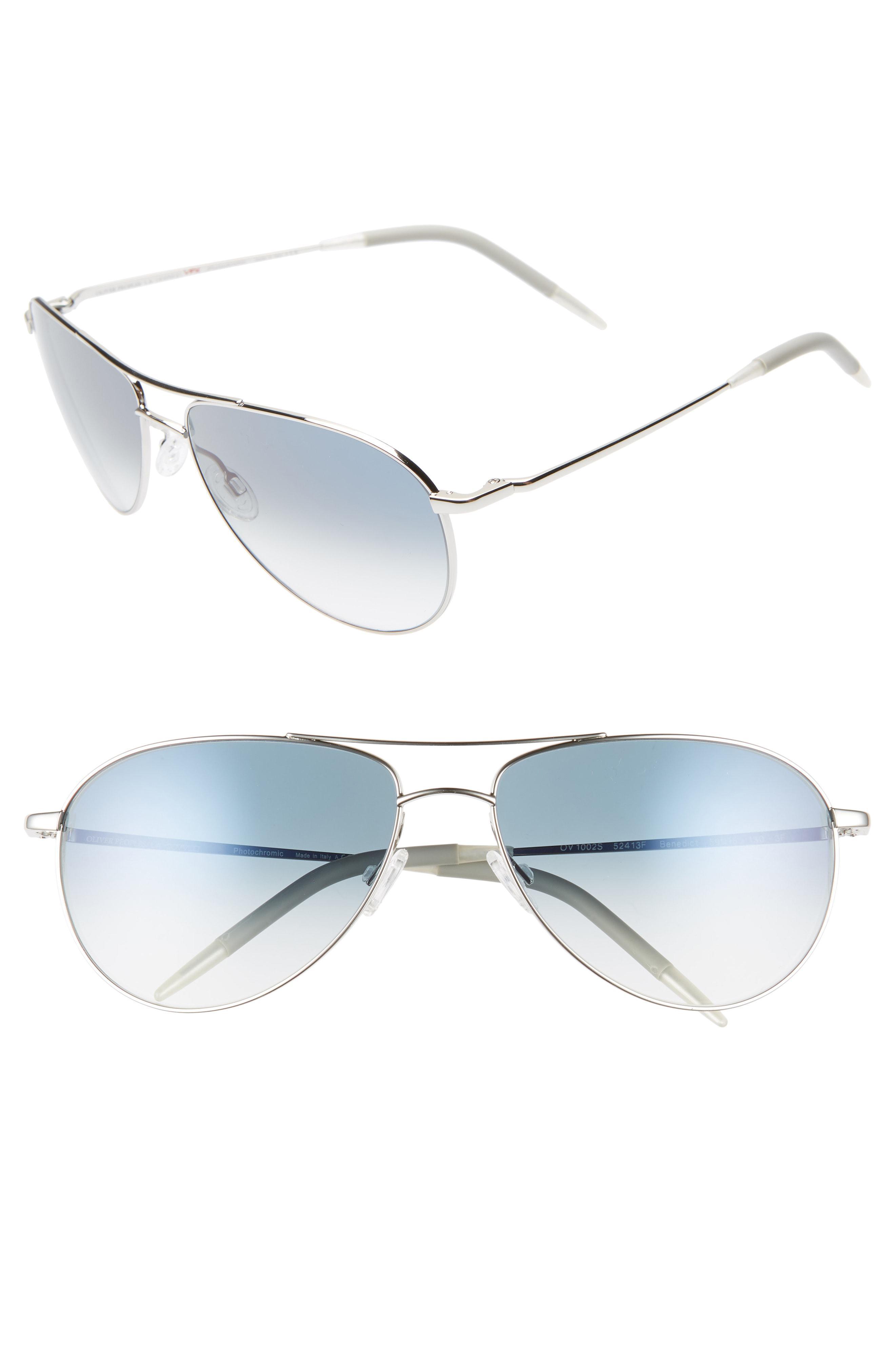 9dd9b309206 Oliver Peoples. Men s Metallic Benedict 59mm Gradient Aviator Sunglasses