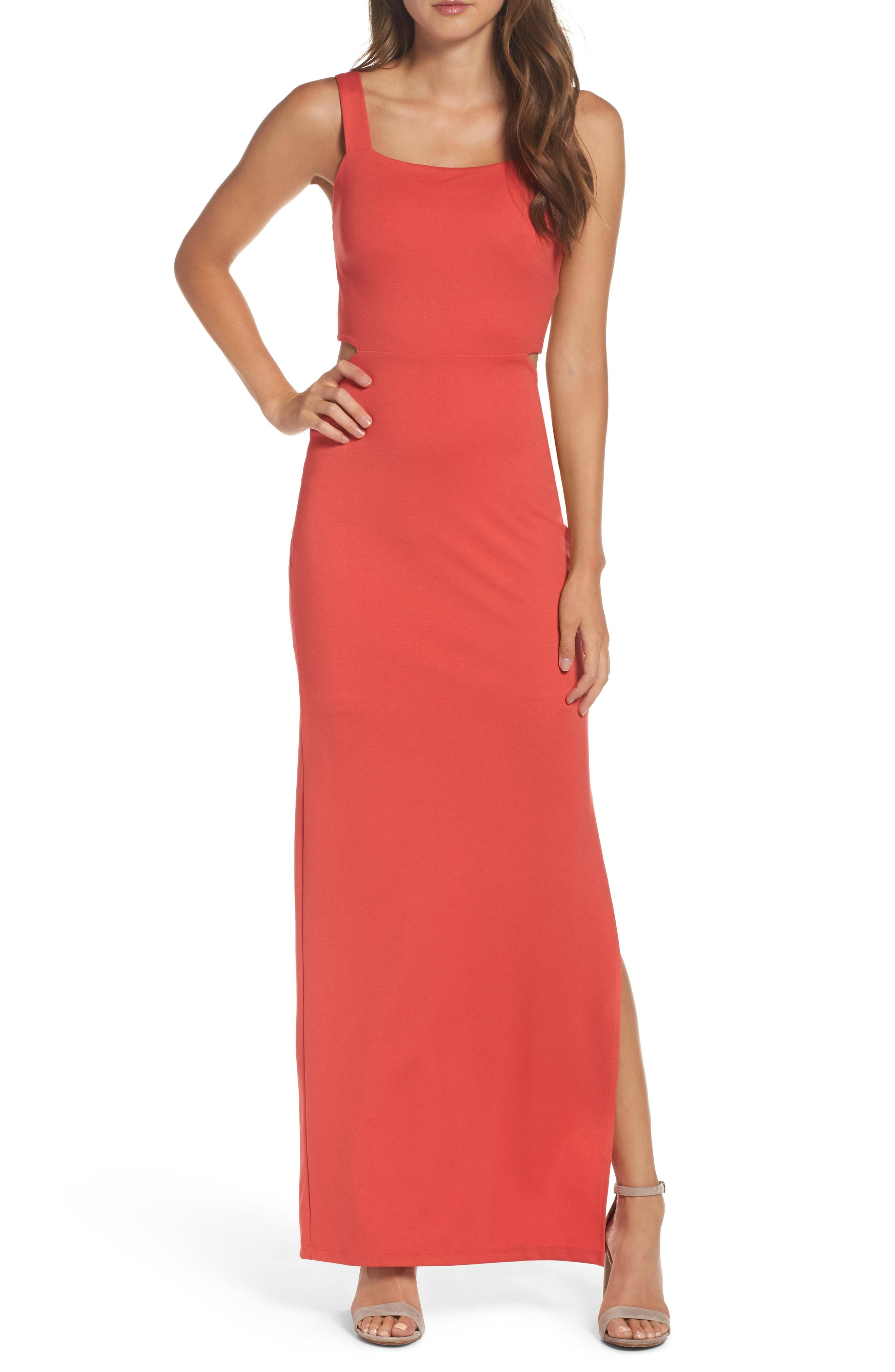 a4609a318b92 Lyst - Fraiche By J Maxi Dress in Red