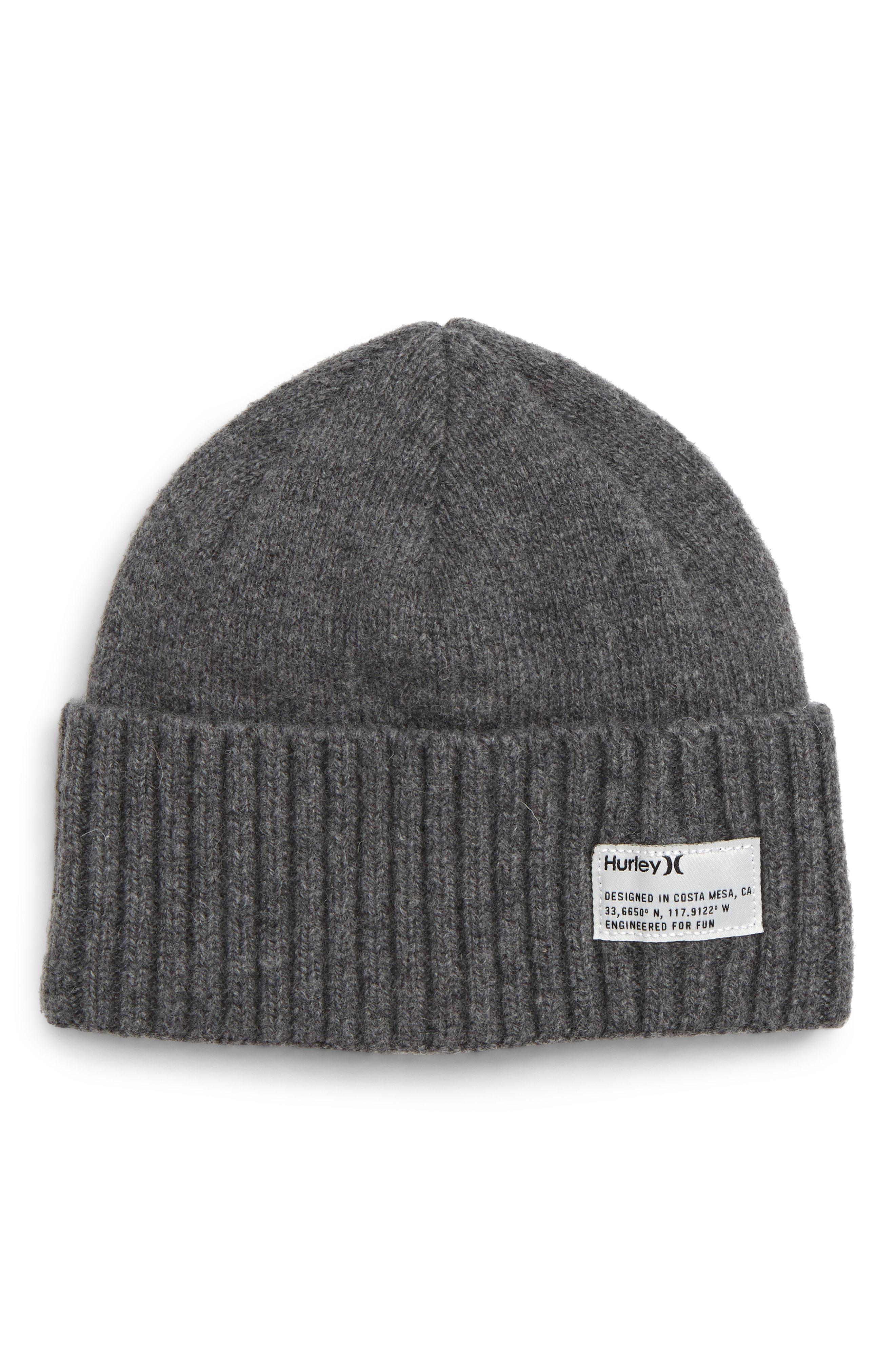 e2c0770f Lyst - Hurley Shoreman Recycled Wool Blend Beanie in Gray for Men