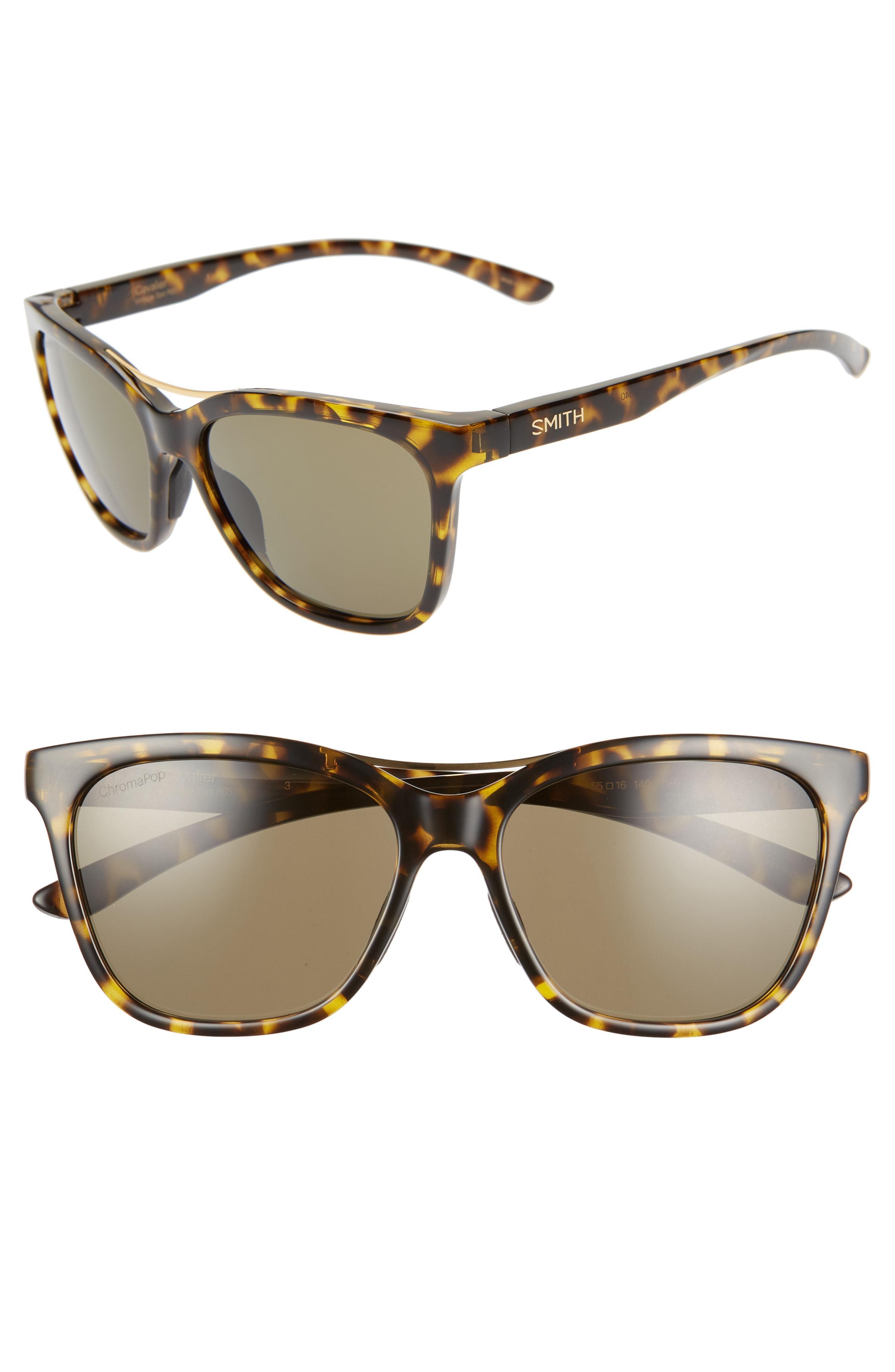 67fd58d838 Smith - Brown Cavalier 55mm Chromapop(tm) Polarized Cat Eye Sunglasses - -  Lyst. View fullscreen