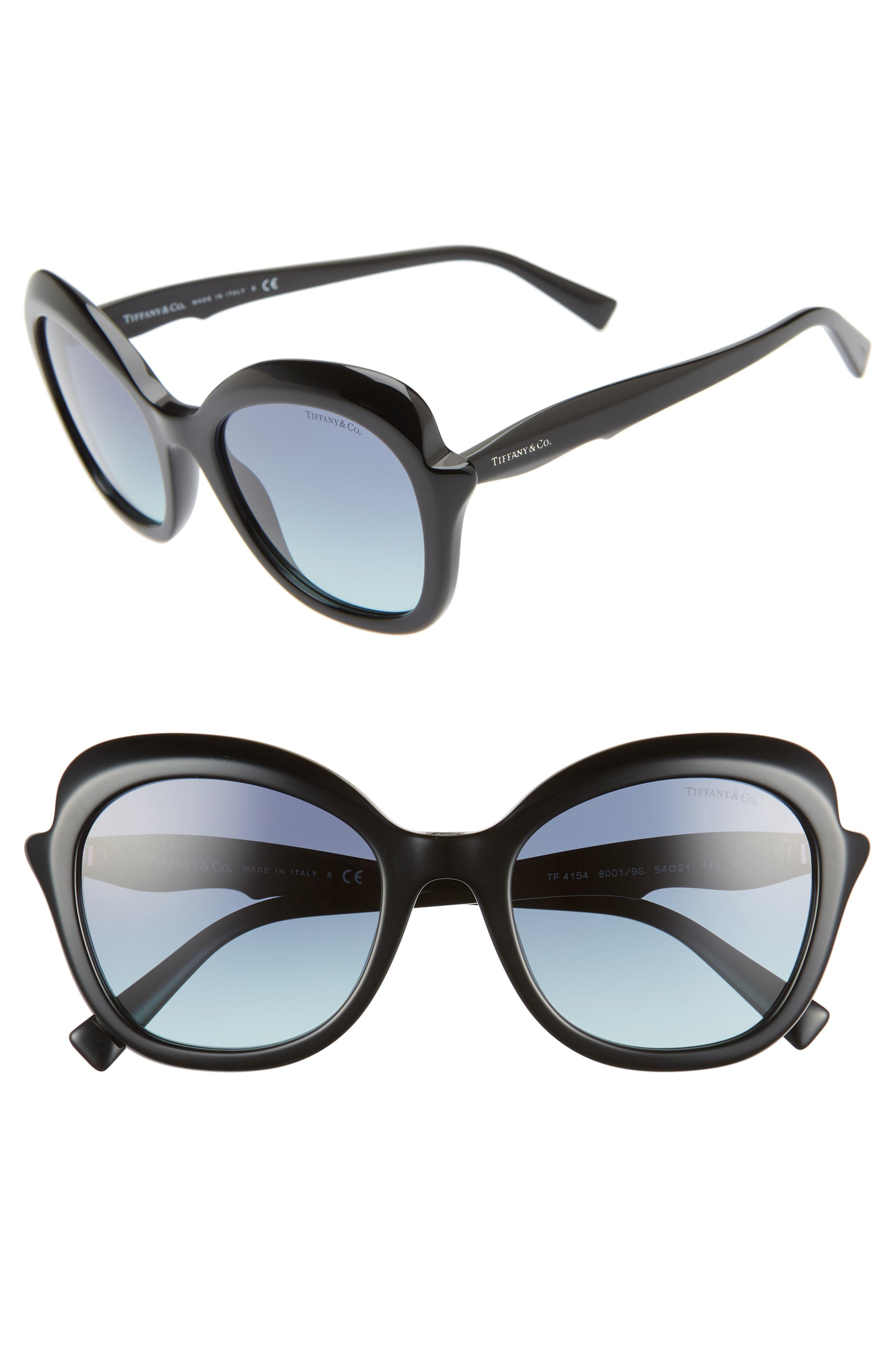 fd16dbc97 Tiffany & Co. Women's Black Paper Flowers 54mm Gradient Round Sunglasses