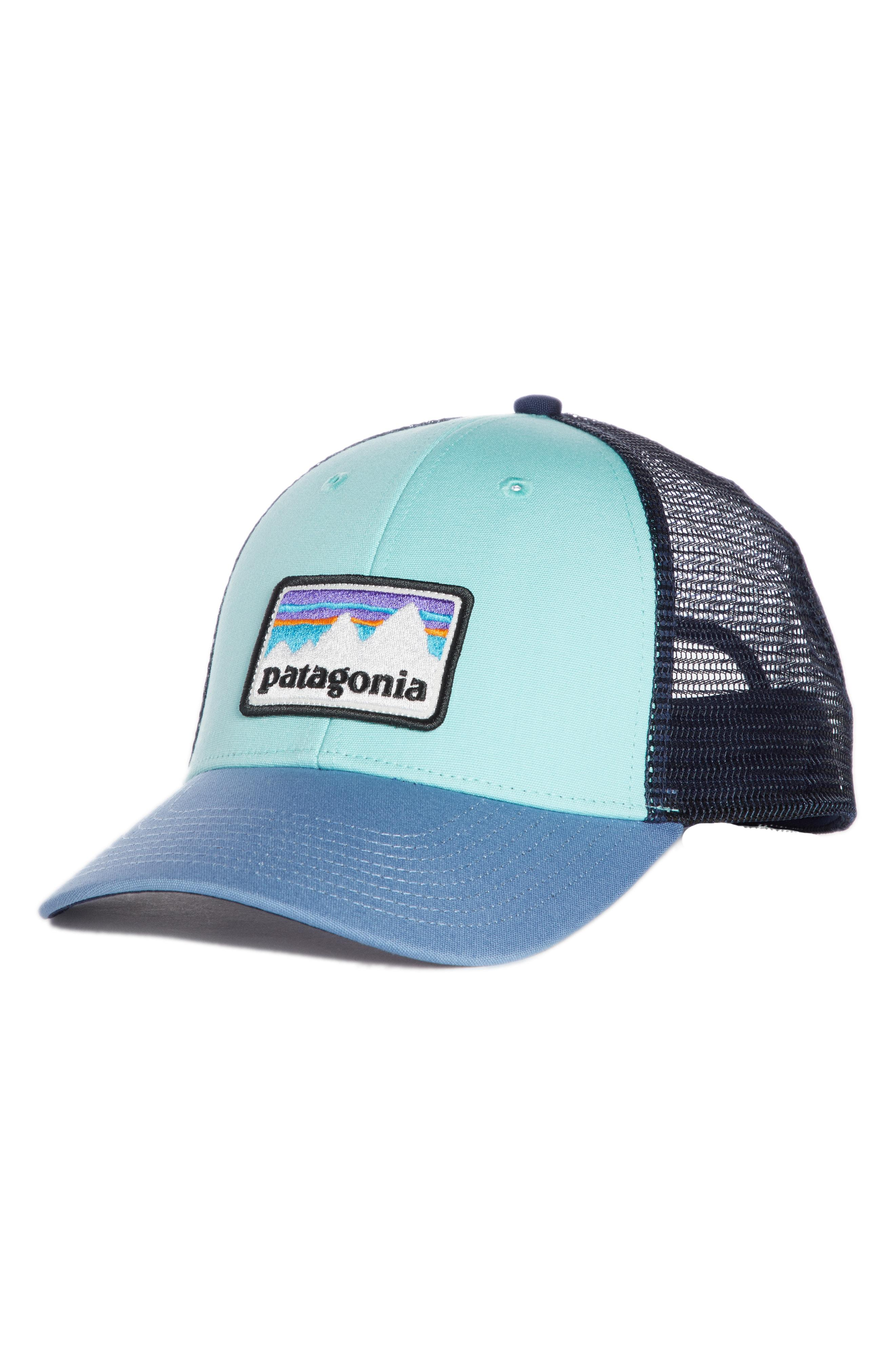 51b6a95387f13 Lyst - Patagonia Shop Sticker Patch Lopro Trucker Hat in Blue