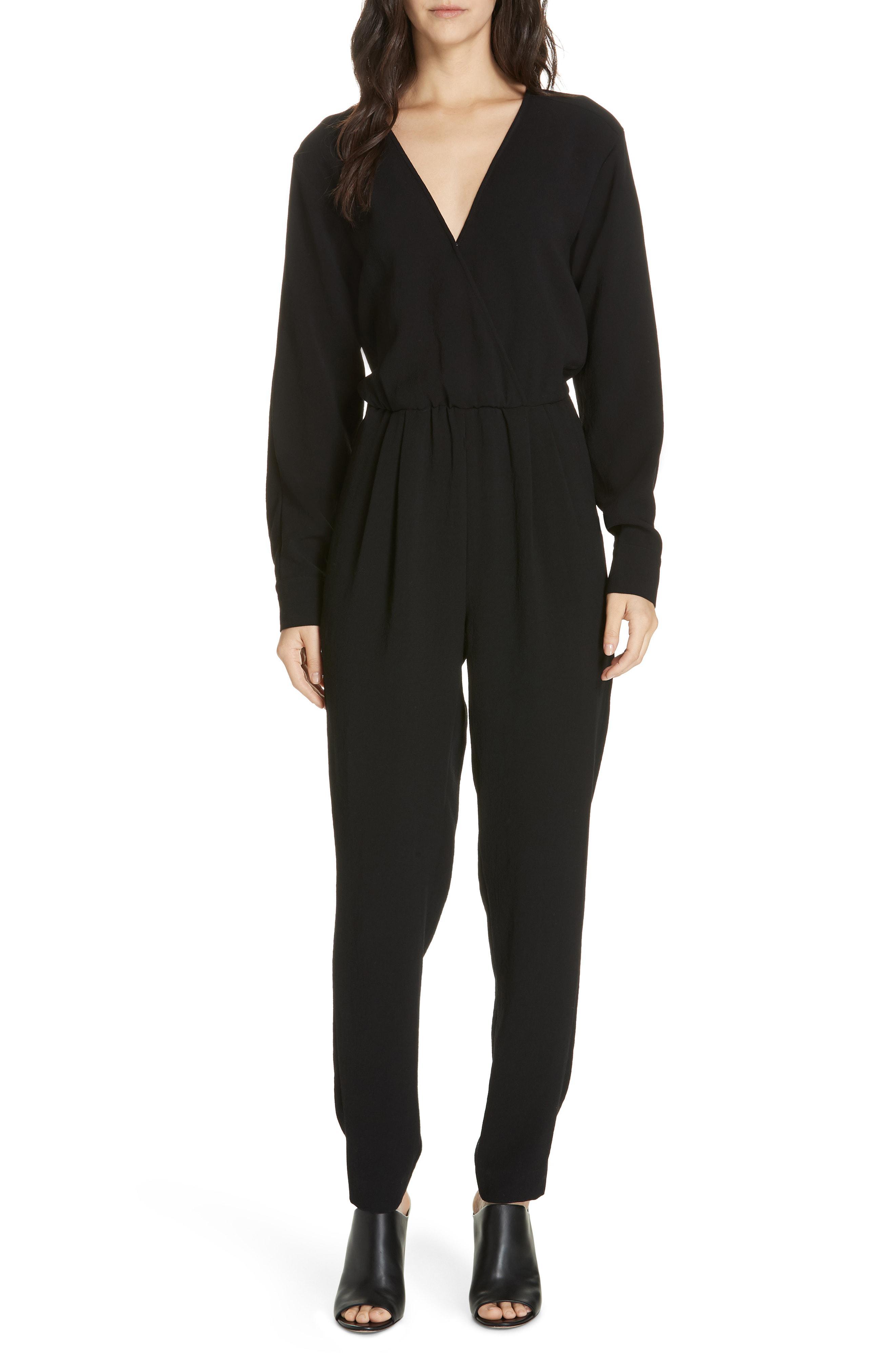 5c3fb07f616 Lyst - Brochu Walker Marino Wrap Front Jumpsuit in Black