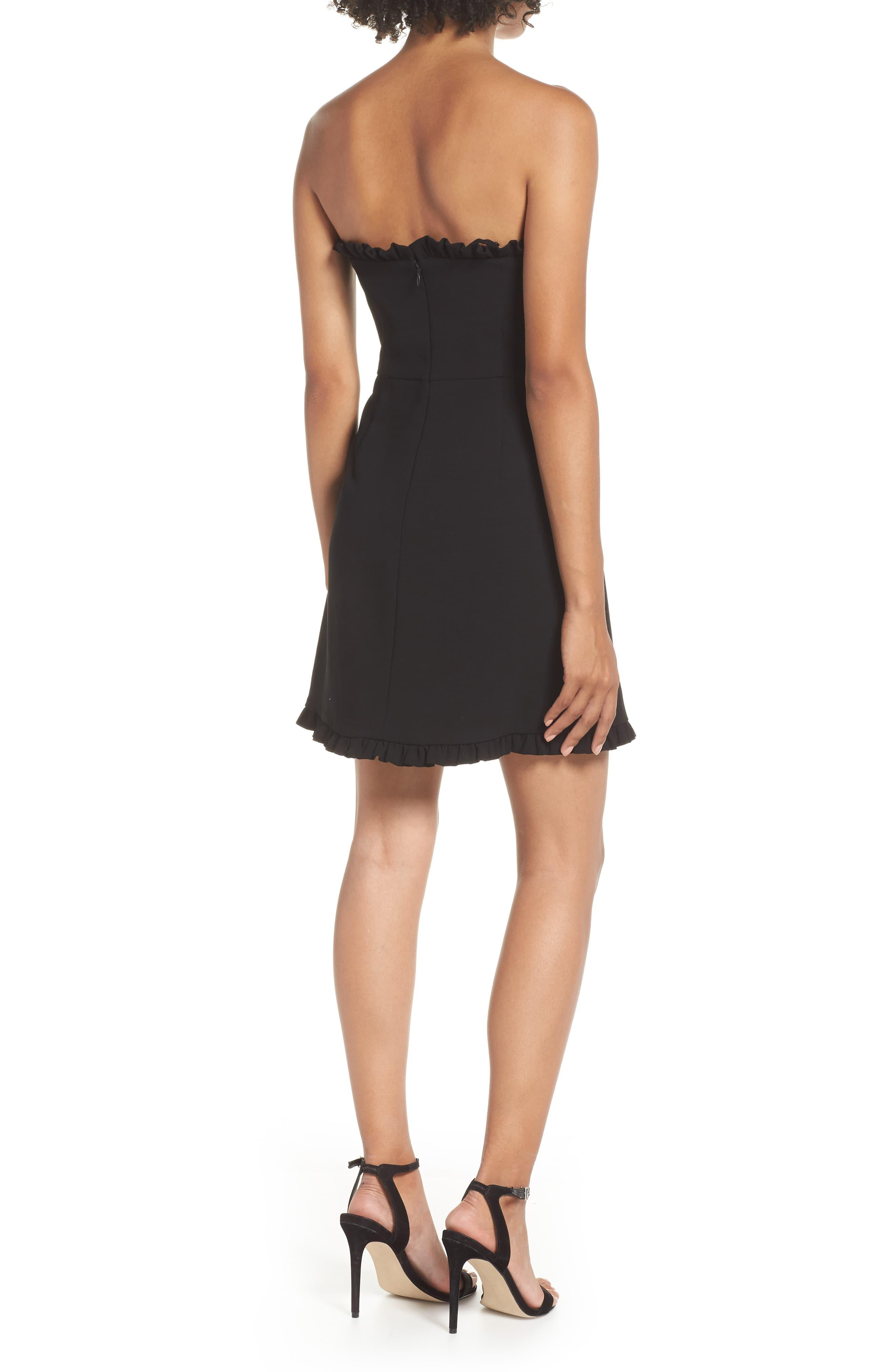 cd3158a7db5ea French Connection Whisper Strapless Minidress in Black - Lyst