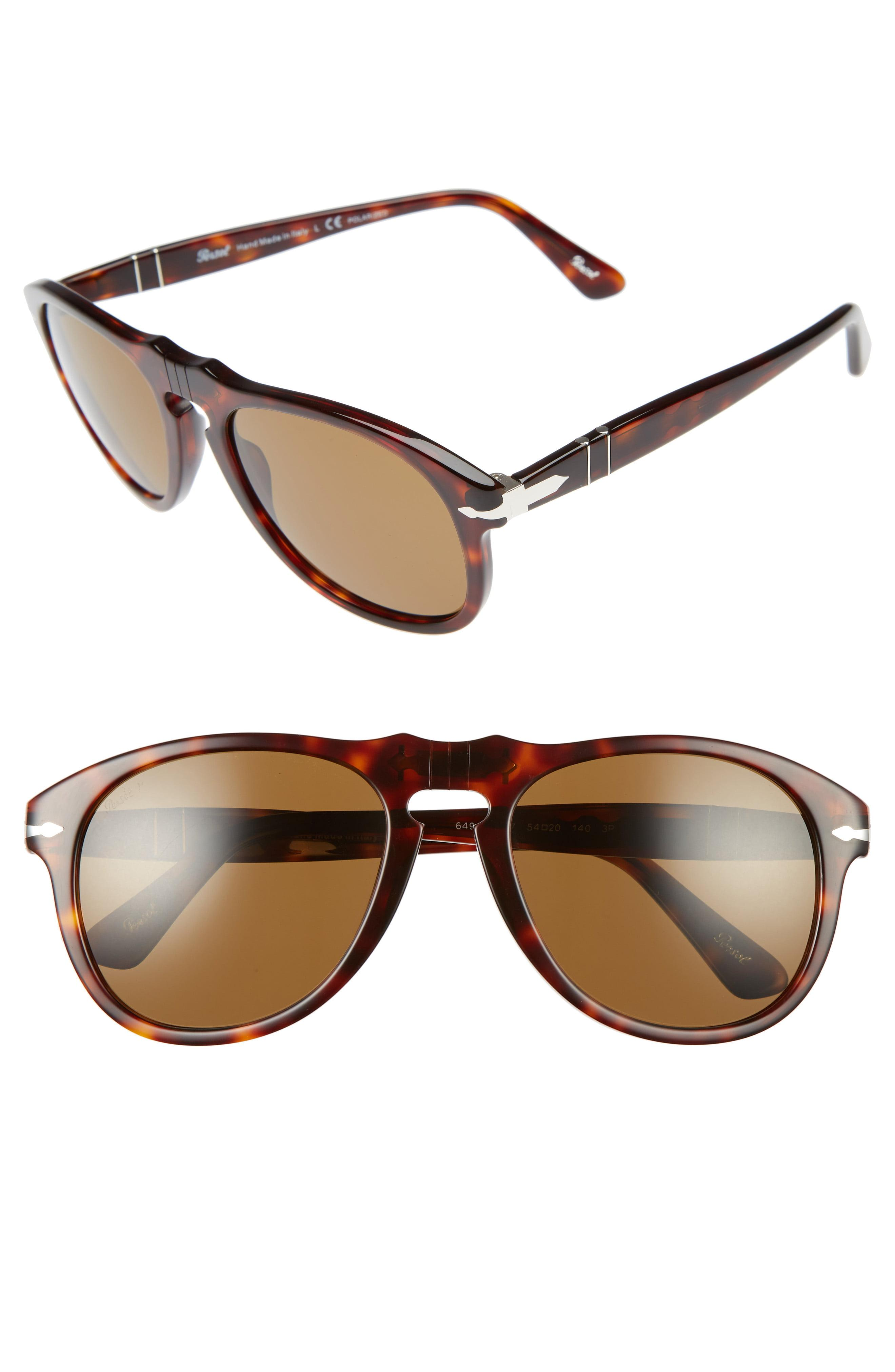 a04dce3edade5 Lyst - Persol 54mm Polarized Keyhole Retro Sunglasses - in Brown for Men