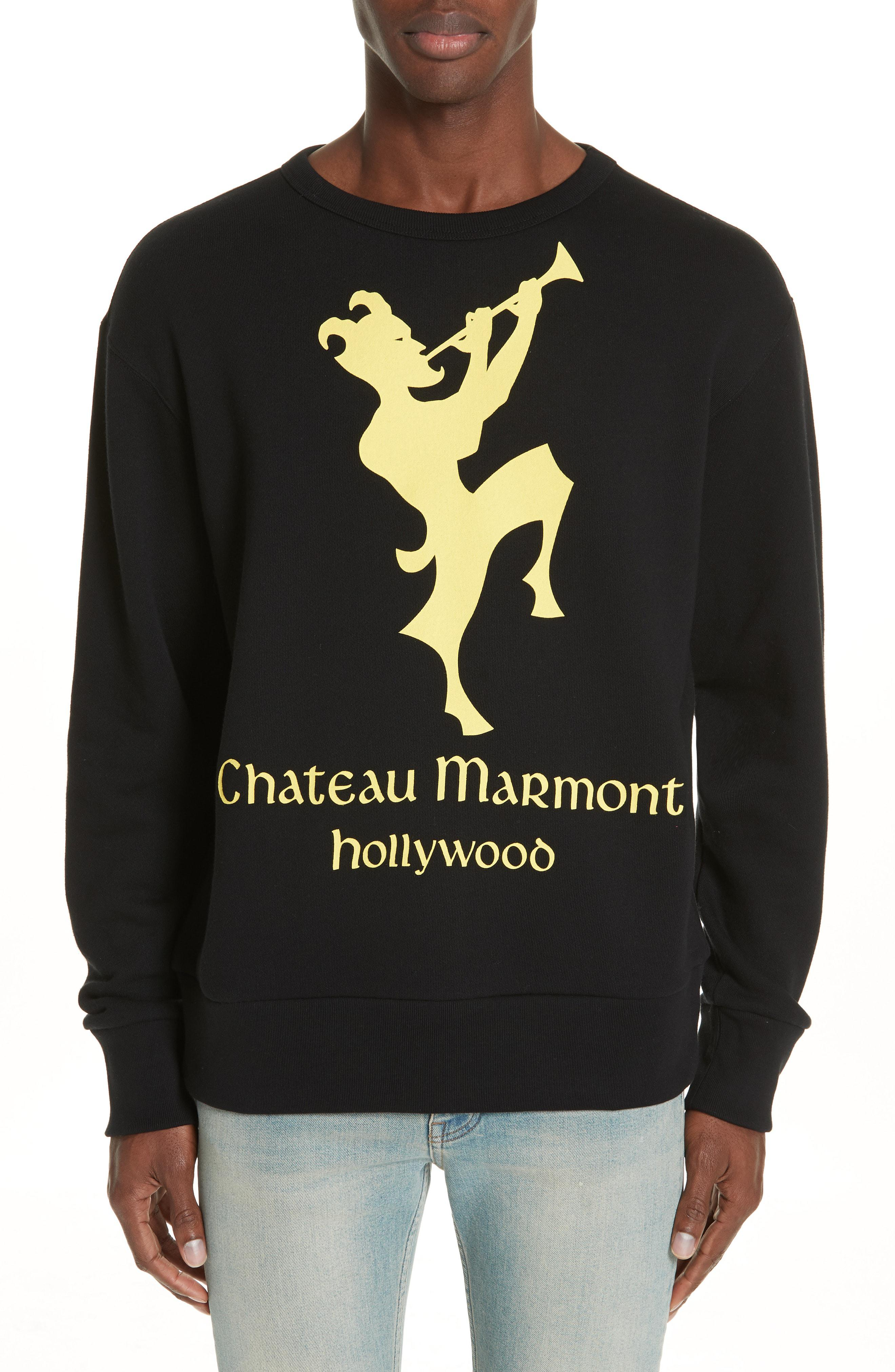 71ddb9d967cc76 Gucci Chateau Marmont Graphic Sweatshirt in Black for Men - Lyst