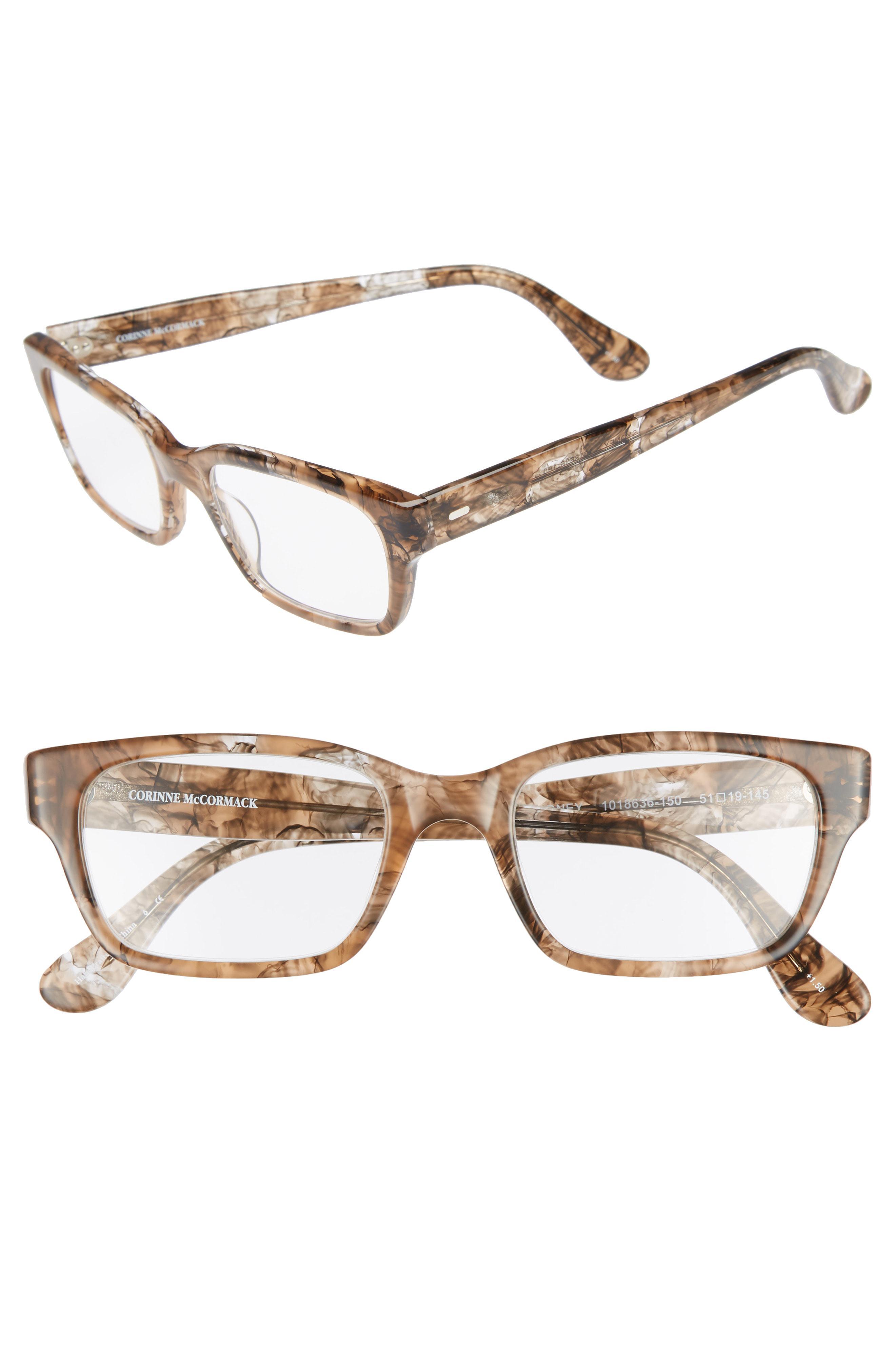 bad099804c54 Corinne Mccormack - Metallic  sydney  51mm Reading Glasses - Transparent  Marble - Lyst. View fullscreen