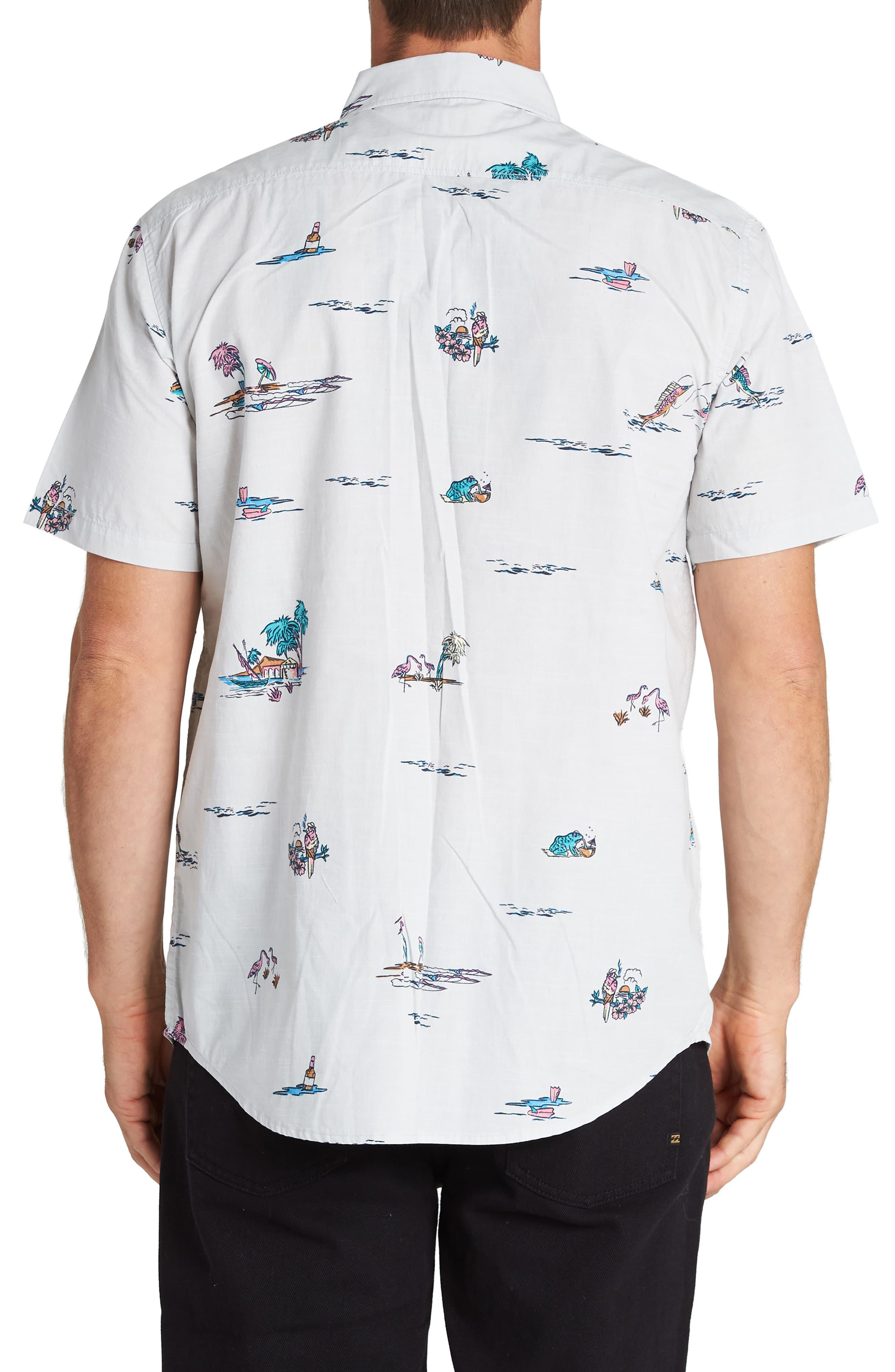 fb711a1017 Billabong Sundays Print Short Sleeve Button-down Shirt in White for ...