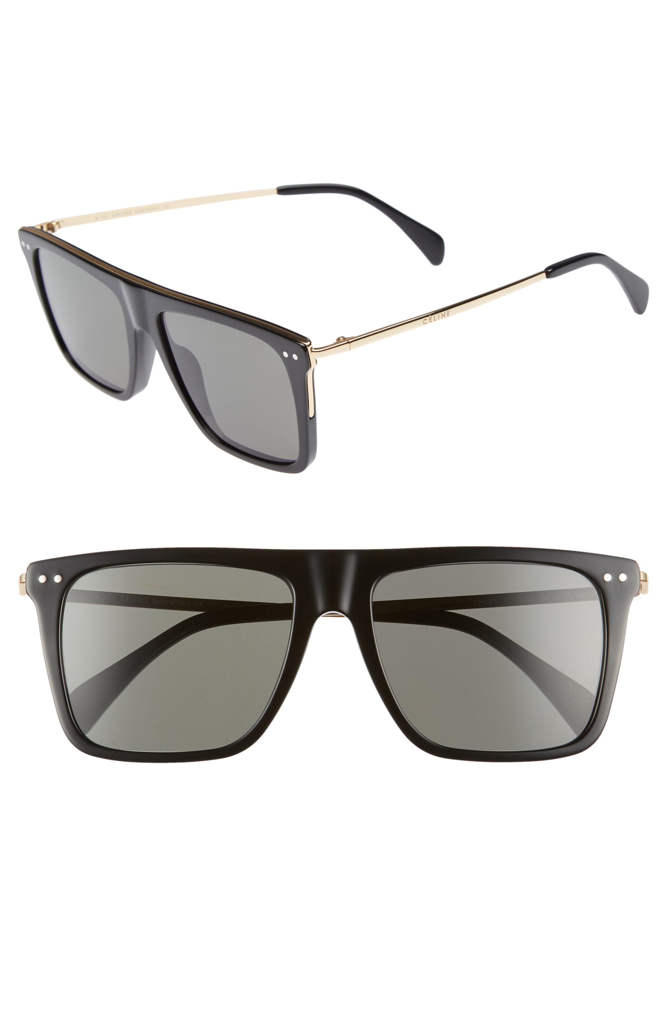 22649b6914 Céline. Women s 54mm Polarized Flat Top Sunglasses