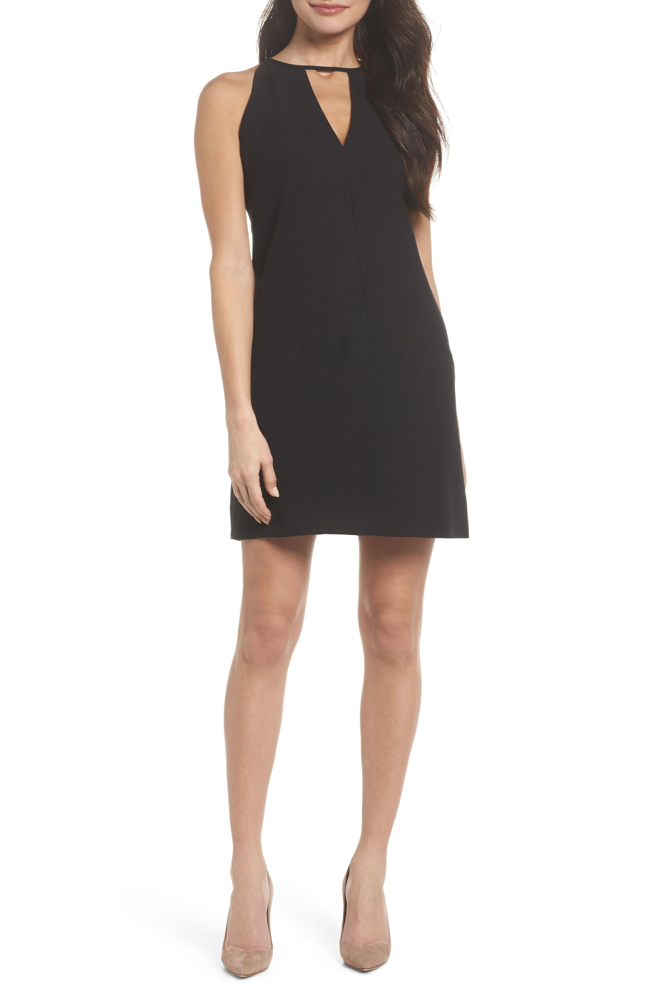 da1c8303 Lyst - Sam Edelman Keyhole Shift Dress in Black - Save 41%