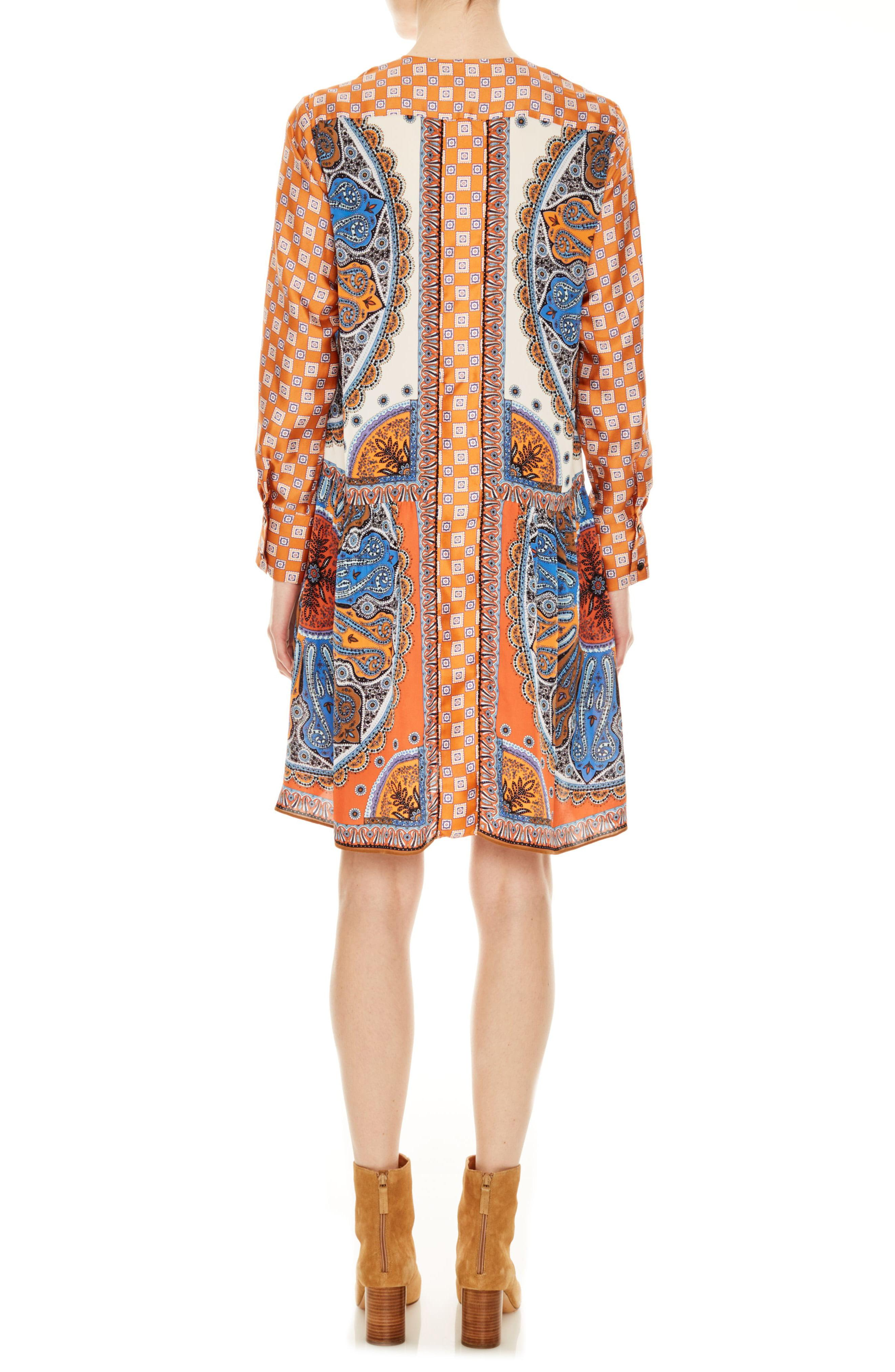 4a6bdf14d8c Sandro - Multicolor Hoani Pattern Mix Long Sleeve Shirtdress - Lyst. View  fullscreen