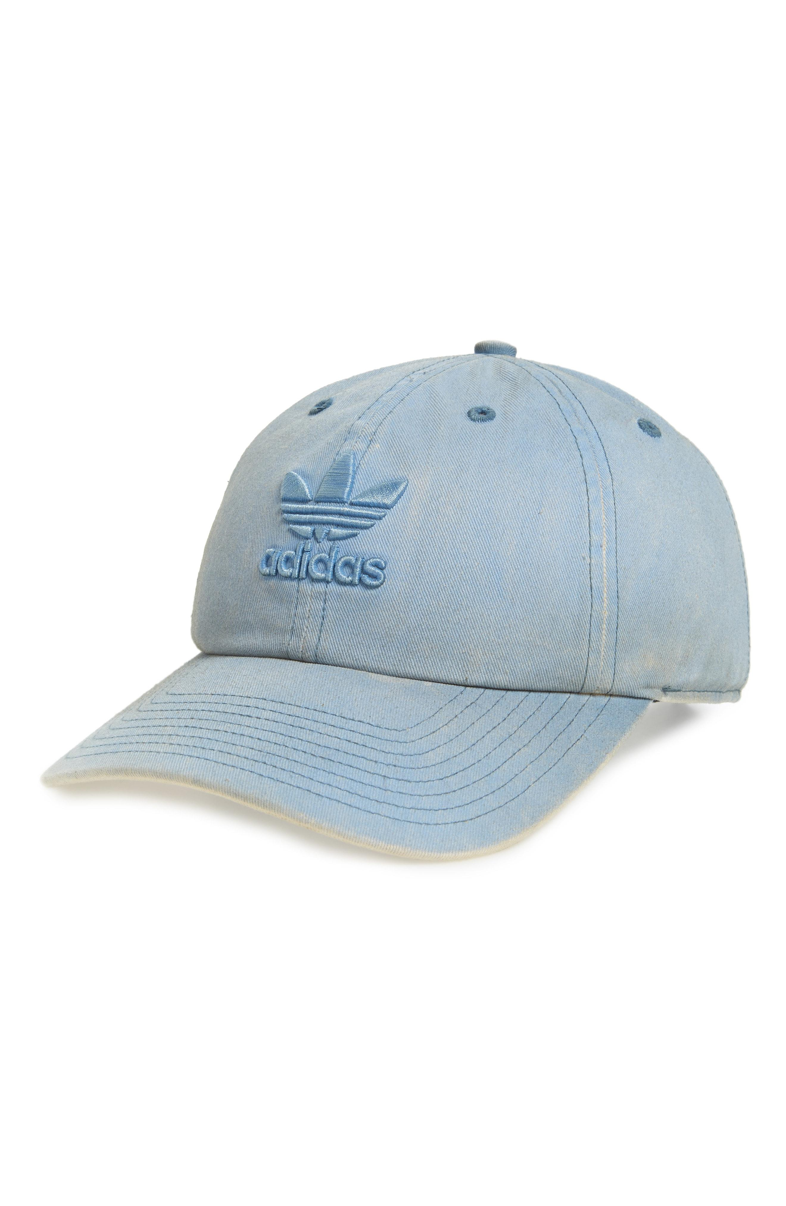 3619a531 Lyst - adidas Originals Relaxed Overdyed Baseball Cap in Blue