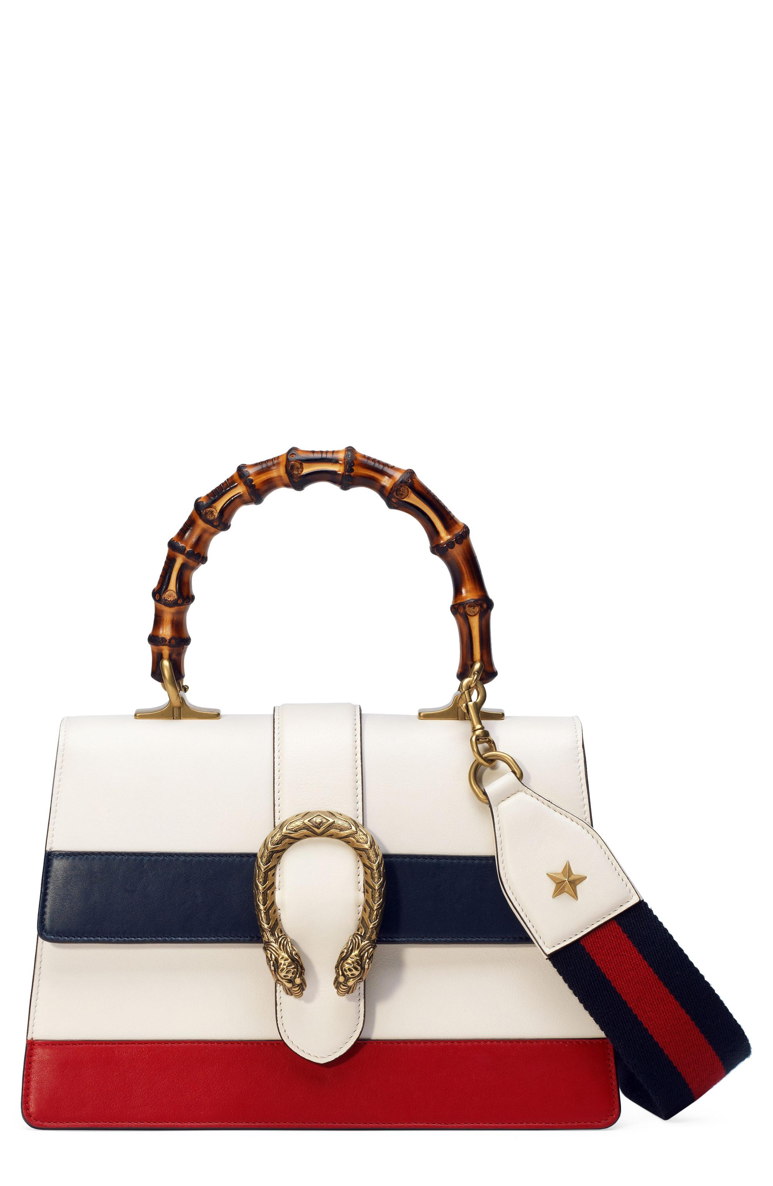 ff318bb2992 Lyst - Gucci Small Dionysus Top Handle Leather Shoulder Bag - in White