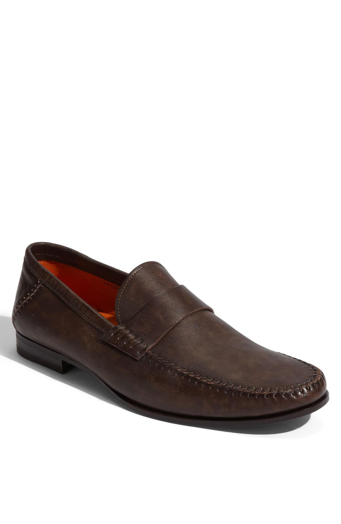 9dc58d63033 Lyst - Santoni Paine Loafer in Brown for Men