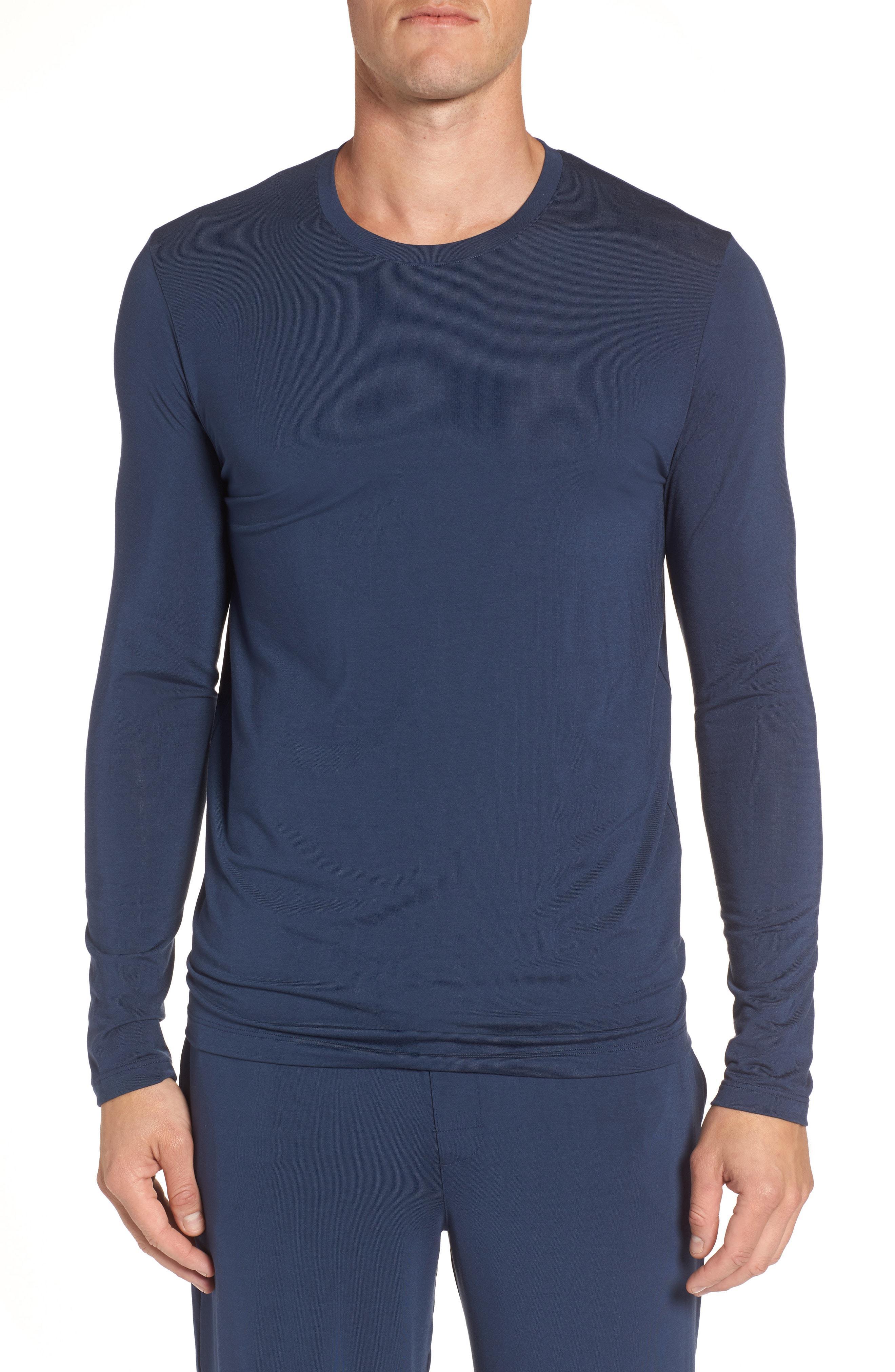 8d413ba0e6b8da Lyst - Tommy John Second Skin T-shirt in Blue for Men