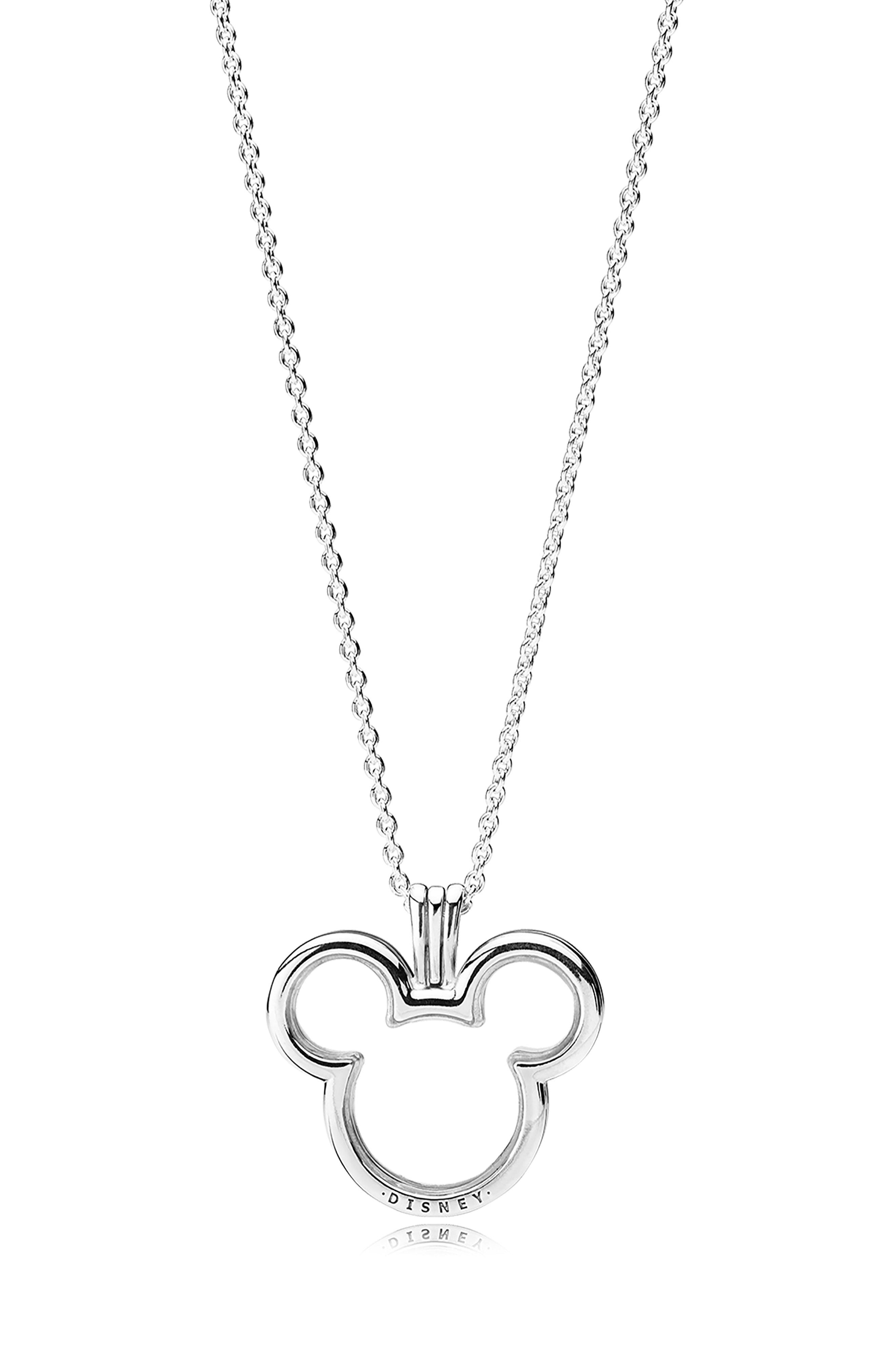 cdd3b6337 PANDORA Disney Mickey Mouse Floating Locket Pendant Necklace in ...