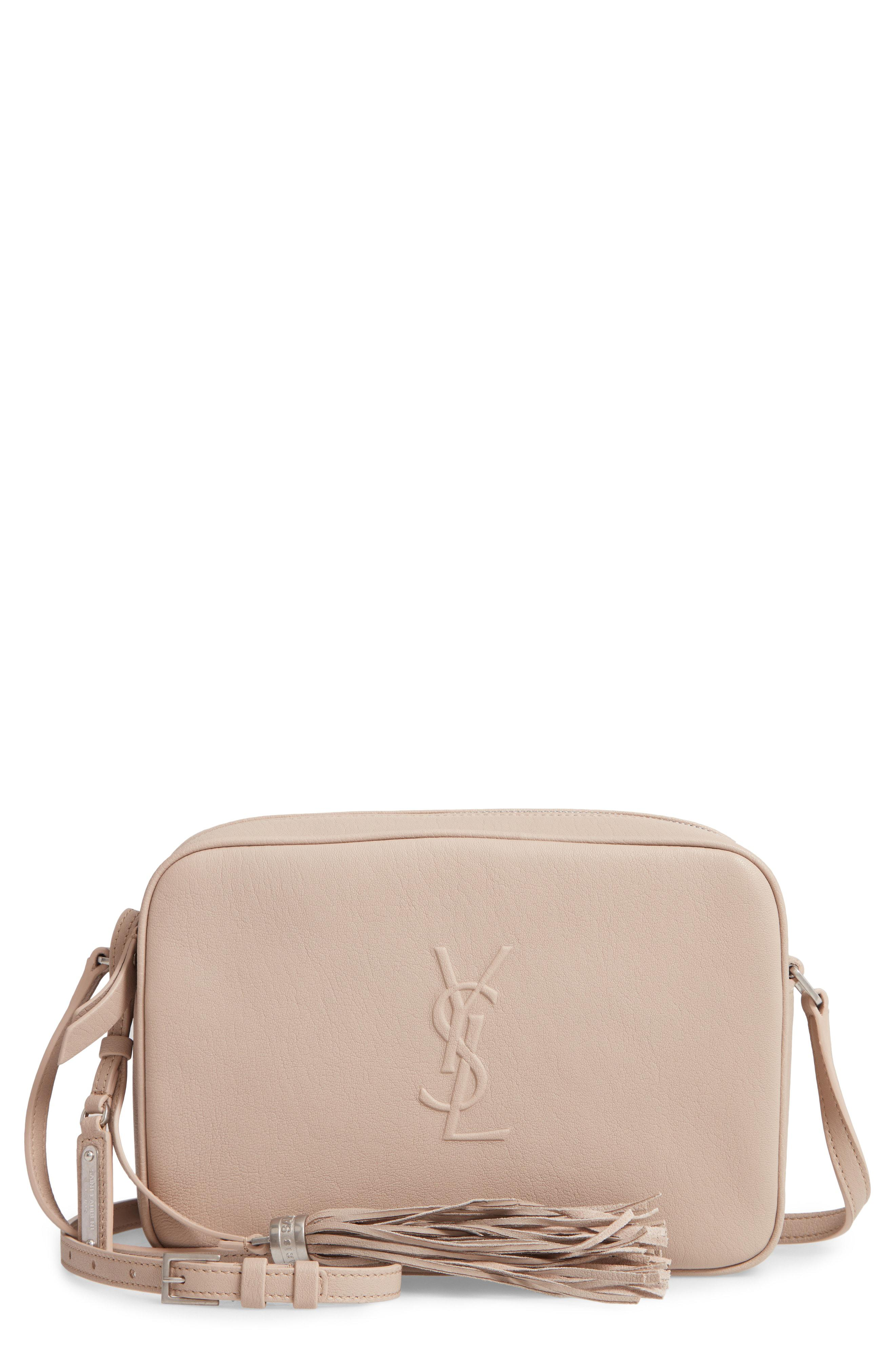 7e80a8099b Lyst - Saint Laurent Small Mono Leather Camera Bag -