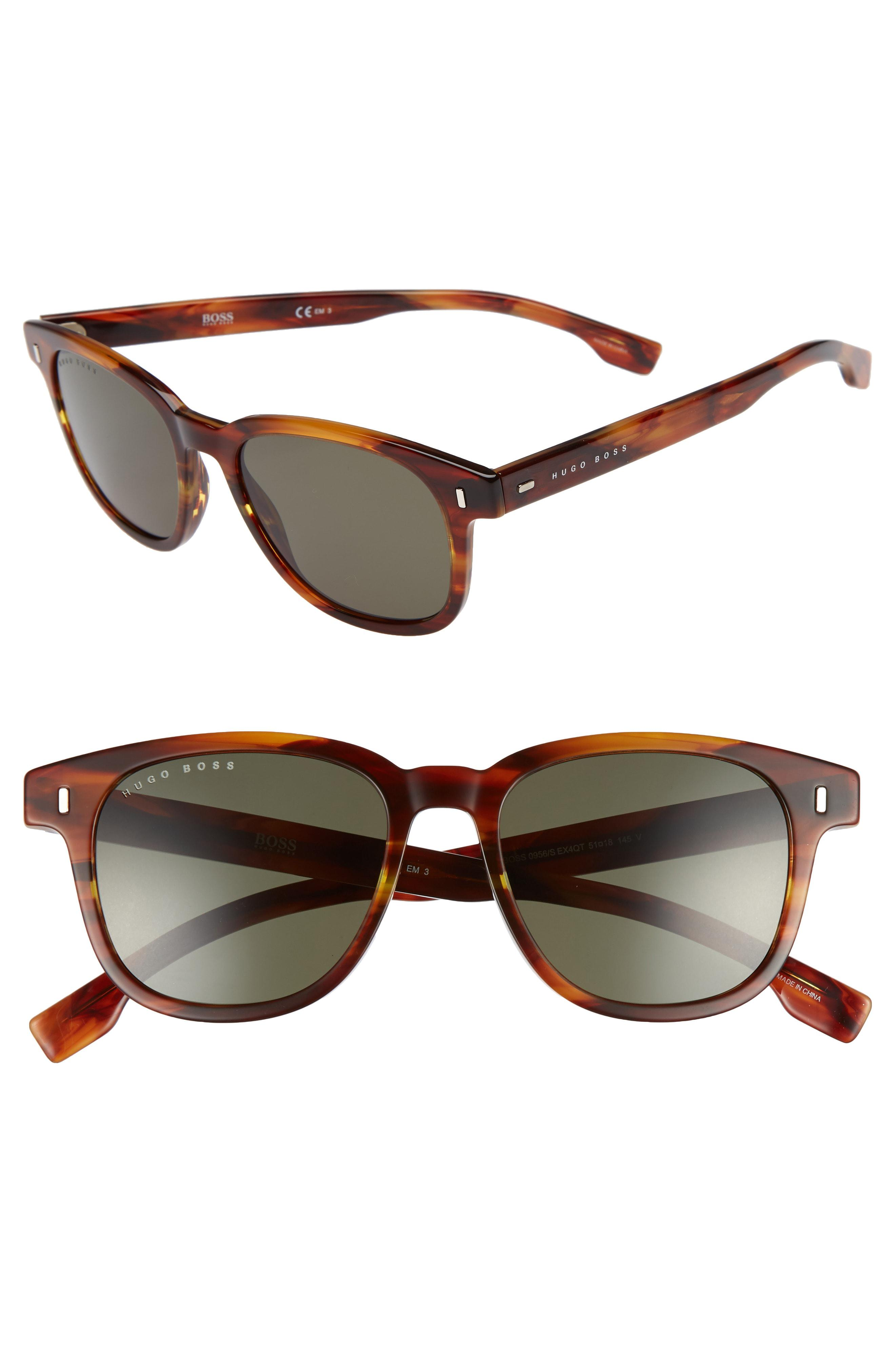 fa1976a95b Lyst - BOSS 51mm Polarized Sunglasses in Brown for Men
