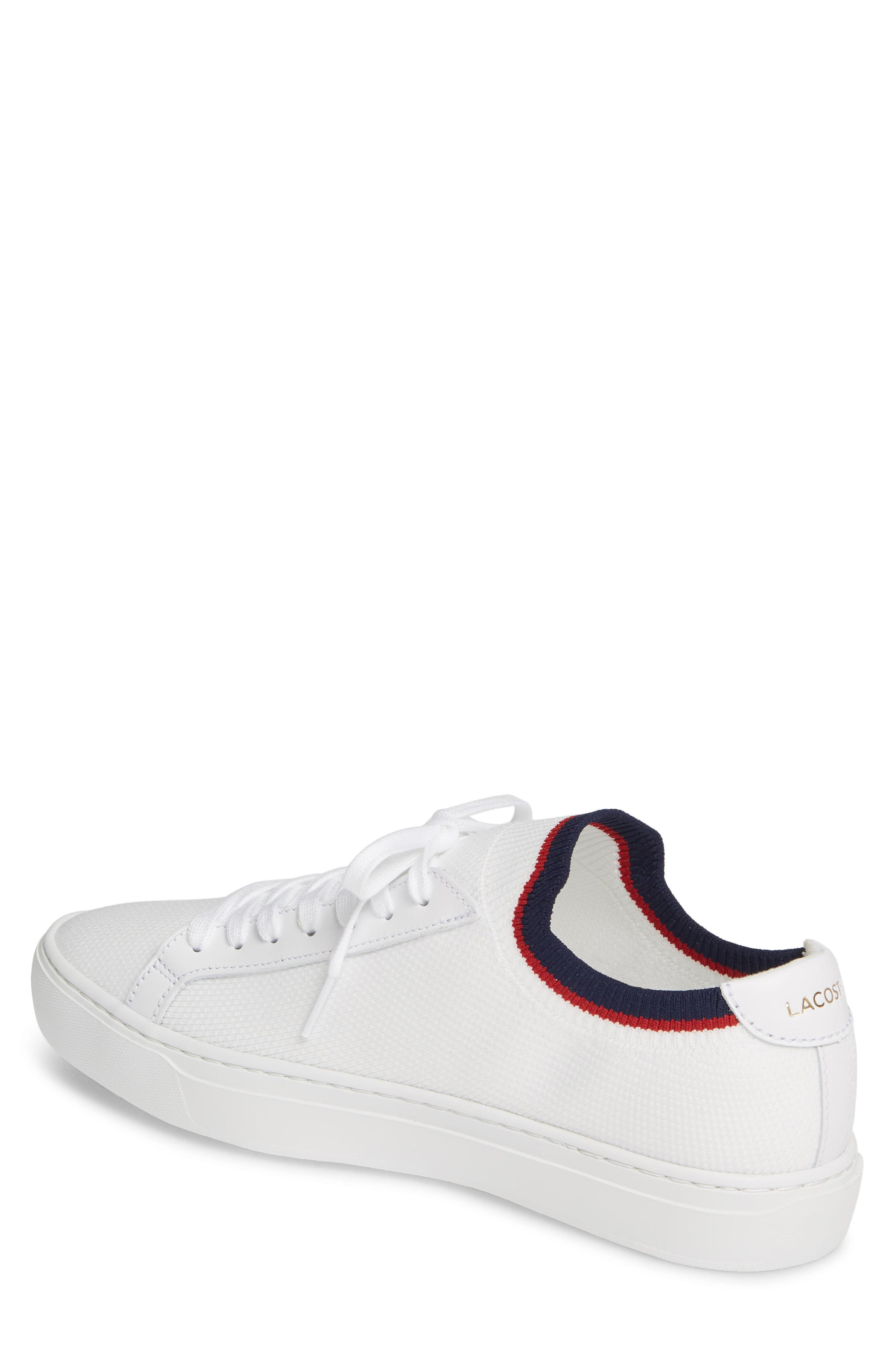 8f627de5764f Lacoste - White Piqué Knit Sneaker for Men - Lyst. View fullscreen
