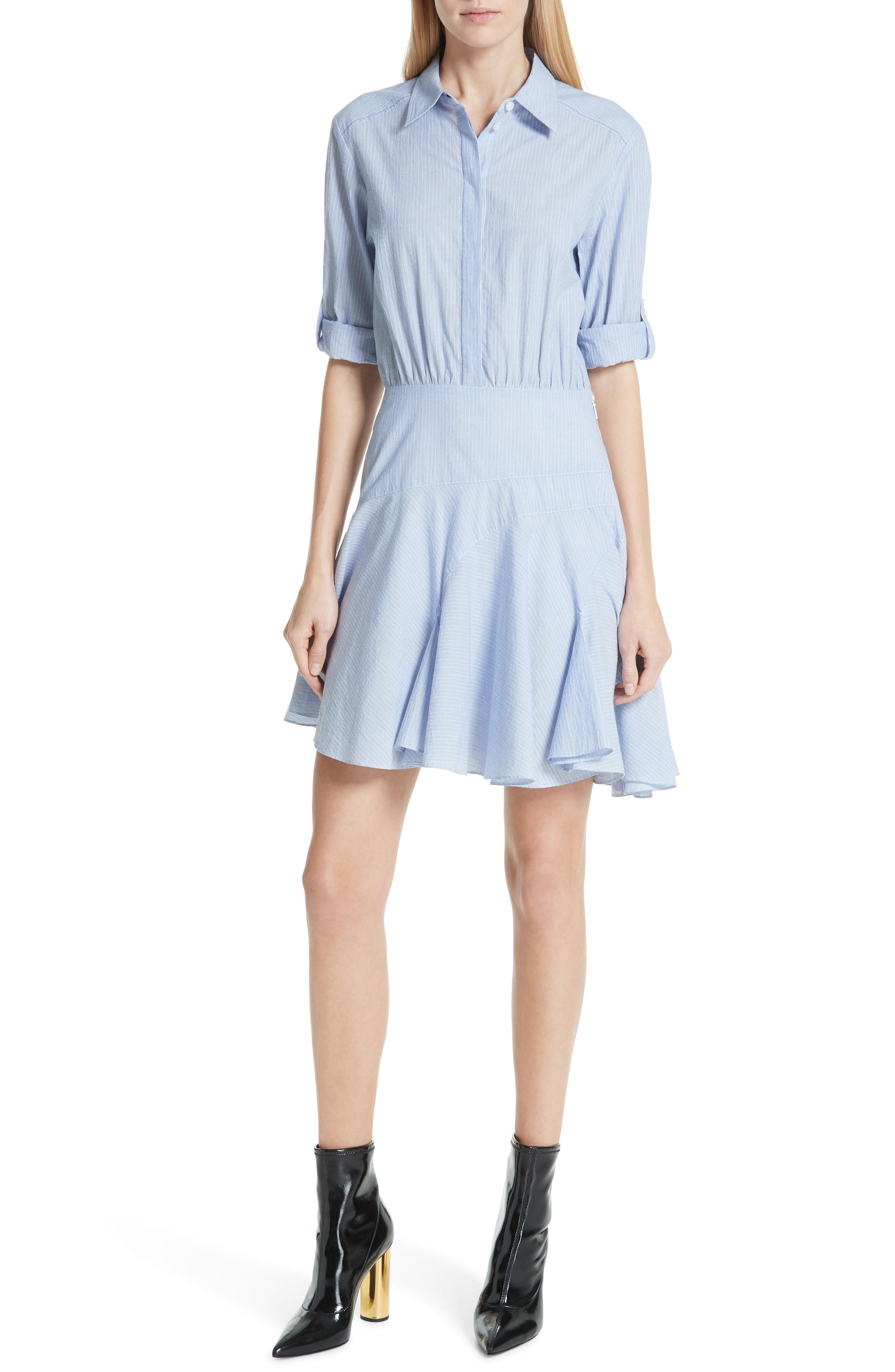 b5ab54213026 Lyst - Jason Wu Grey Stripe Shirting Dress in Blue