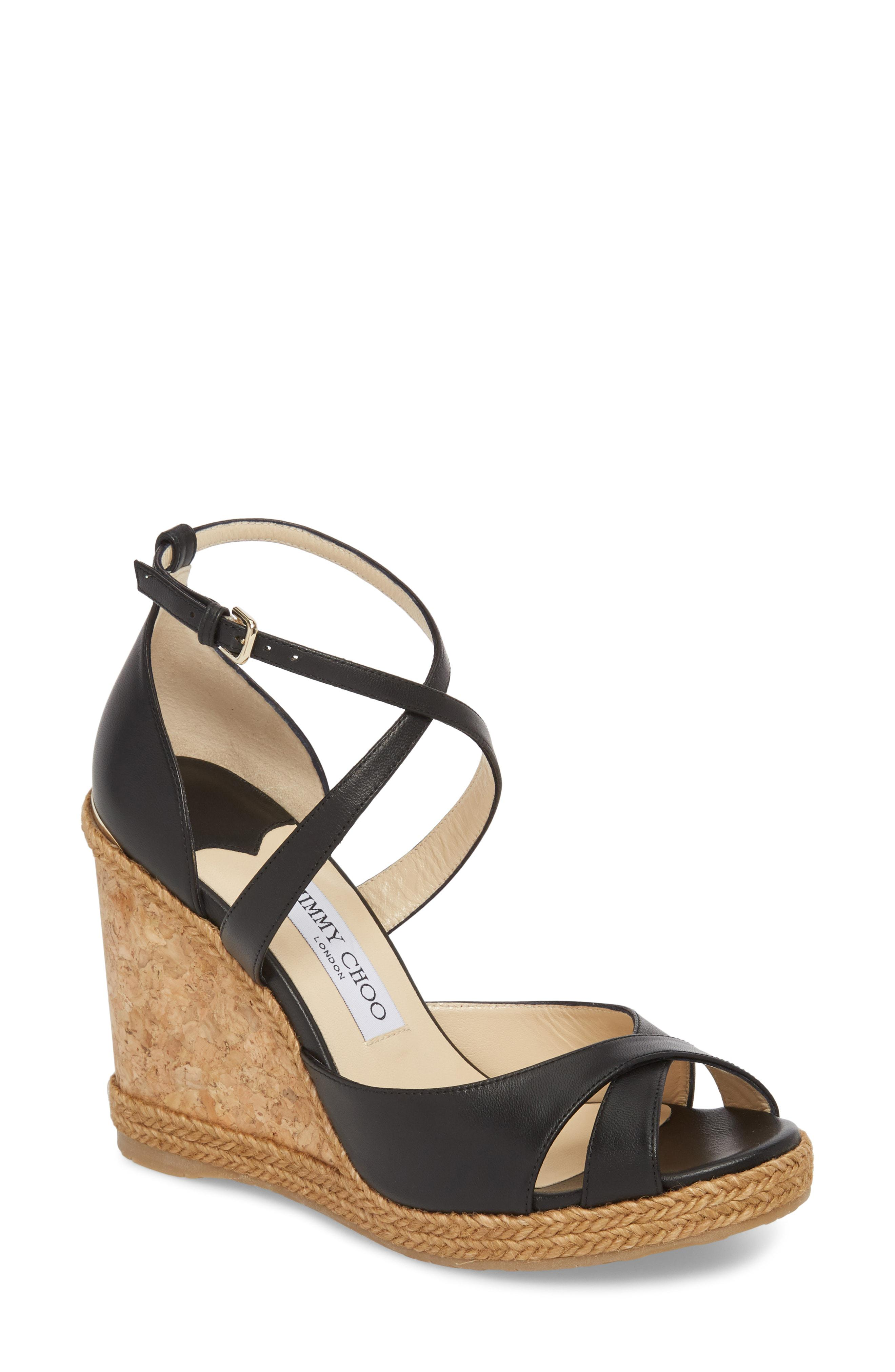 dc72d6dab41 Lyst - Jimmy Choo Alanah Espadrille Wedge Sandal in Black