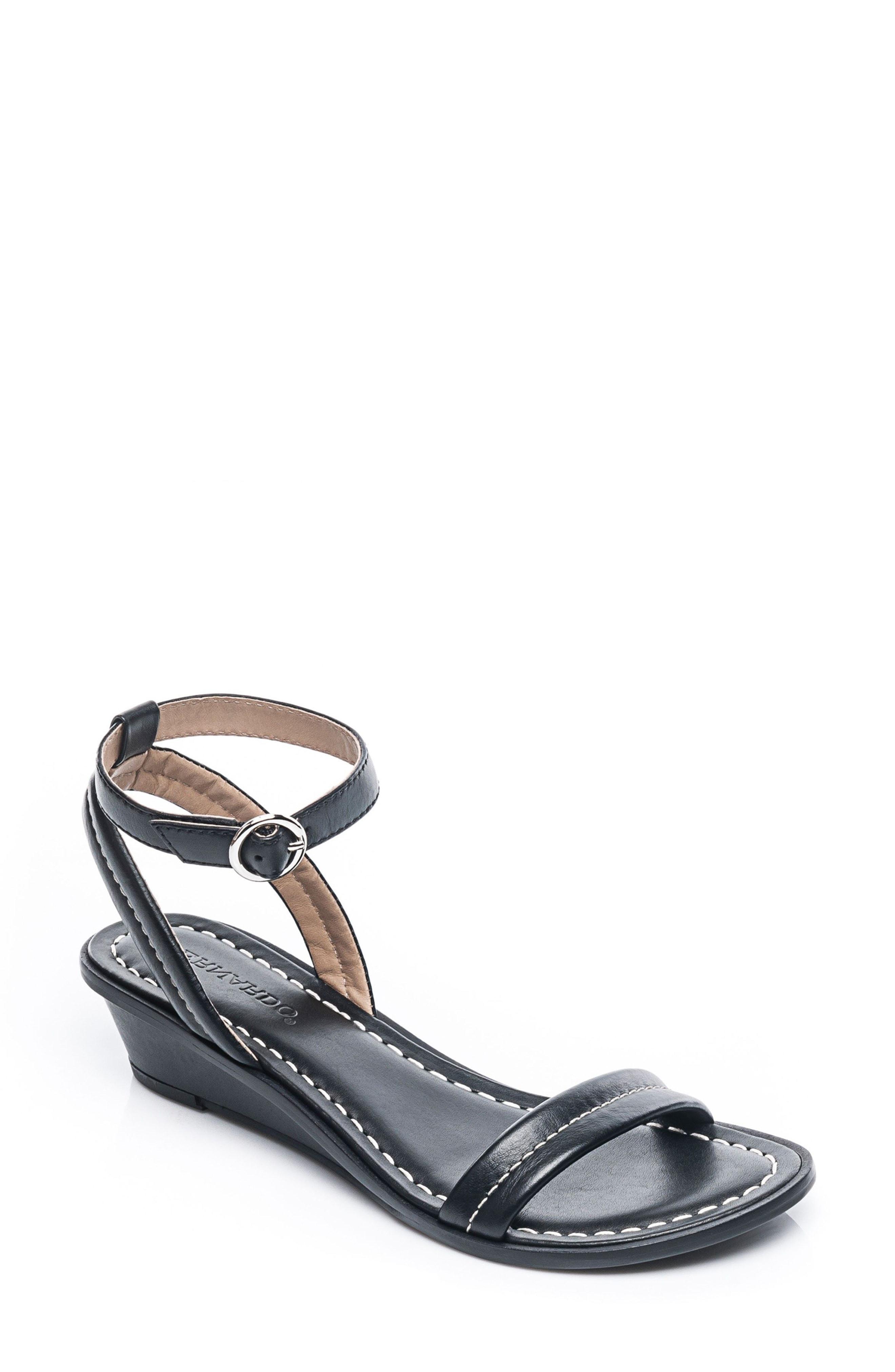 6eb26651d6cb9 Lyst - Bernardo Bernardo Catherine Ankle Strap Sandal in Black