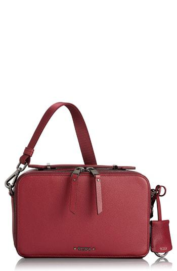 ccc2584ead Lyst - Tumi Voyager - Aberdeen Leather Crossbody Bag - in Red