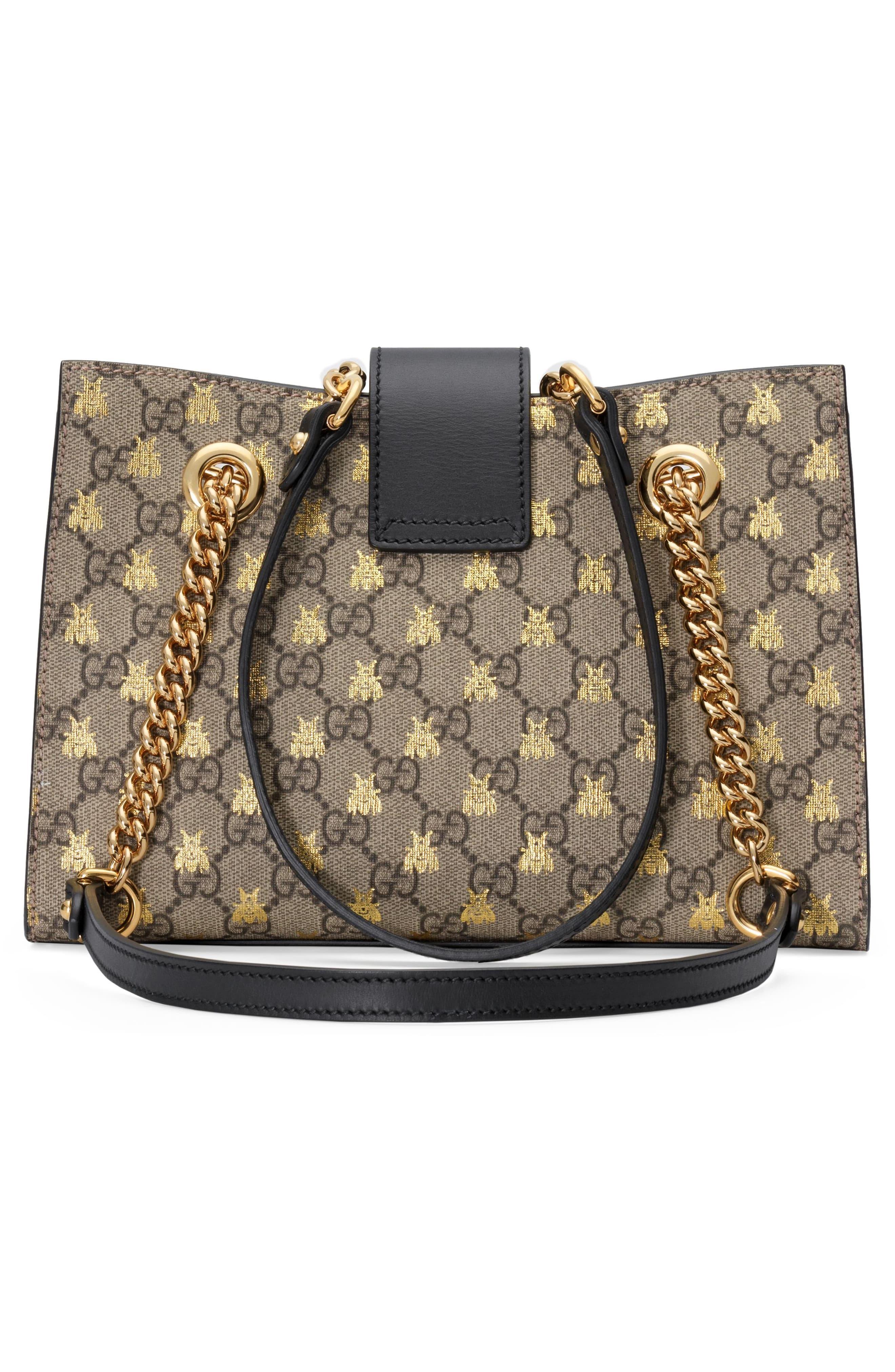 28d02337b0a3 Gucci - Multicolor Small Padlock Gg Supreme Bee Shoulder Bag - - Lyst. View  fullscreen