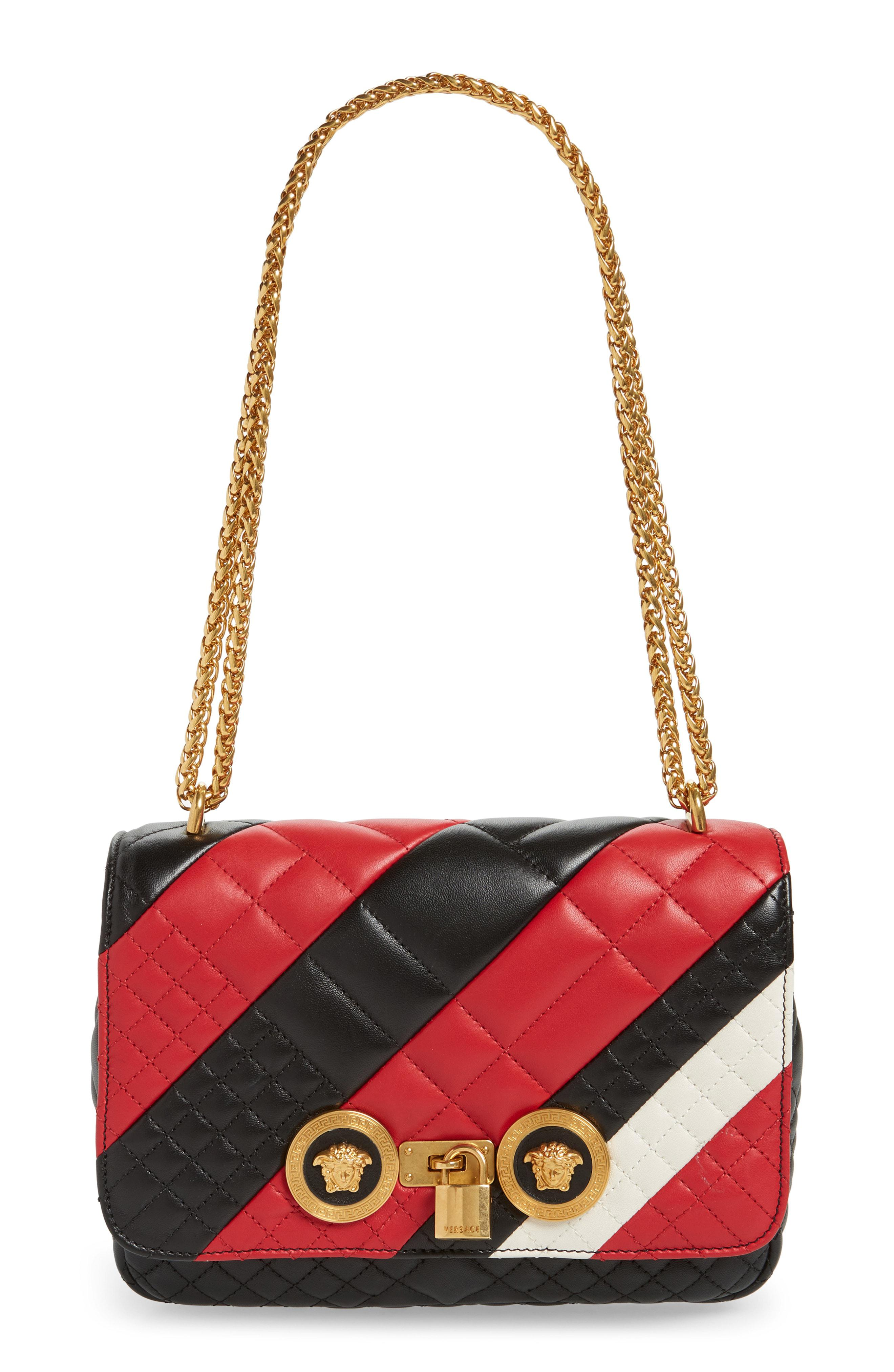 a349ba8fc3 Versace - Red Icon Stripe Quilted Leather Shoulder Bag - Lyst. View  fullscreen