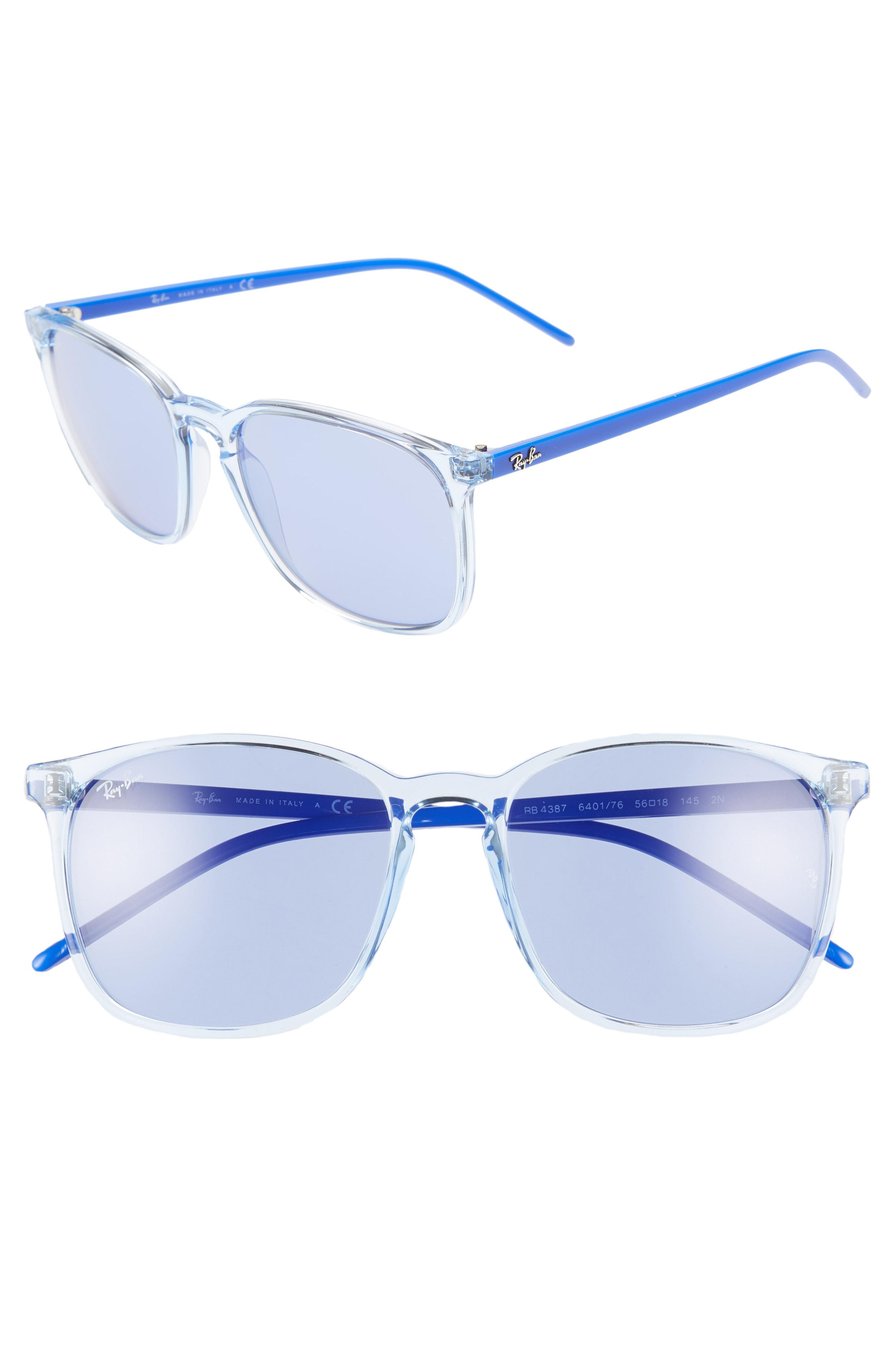 a070ac0747b Lyst - Ray-Ban 56mm Sunglasses - Light Blue  Blue Solid in Blue