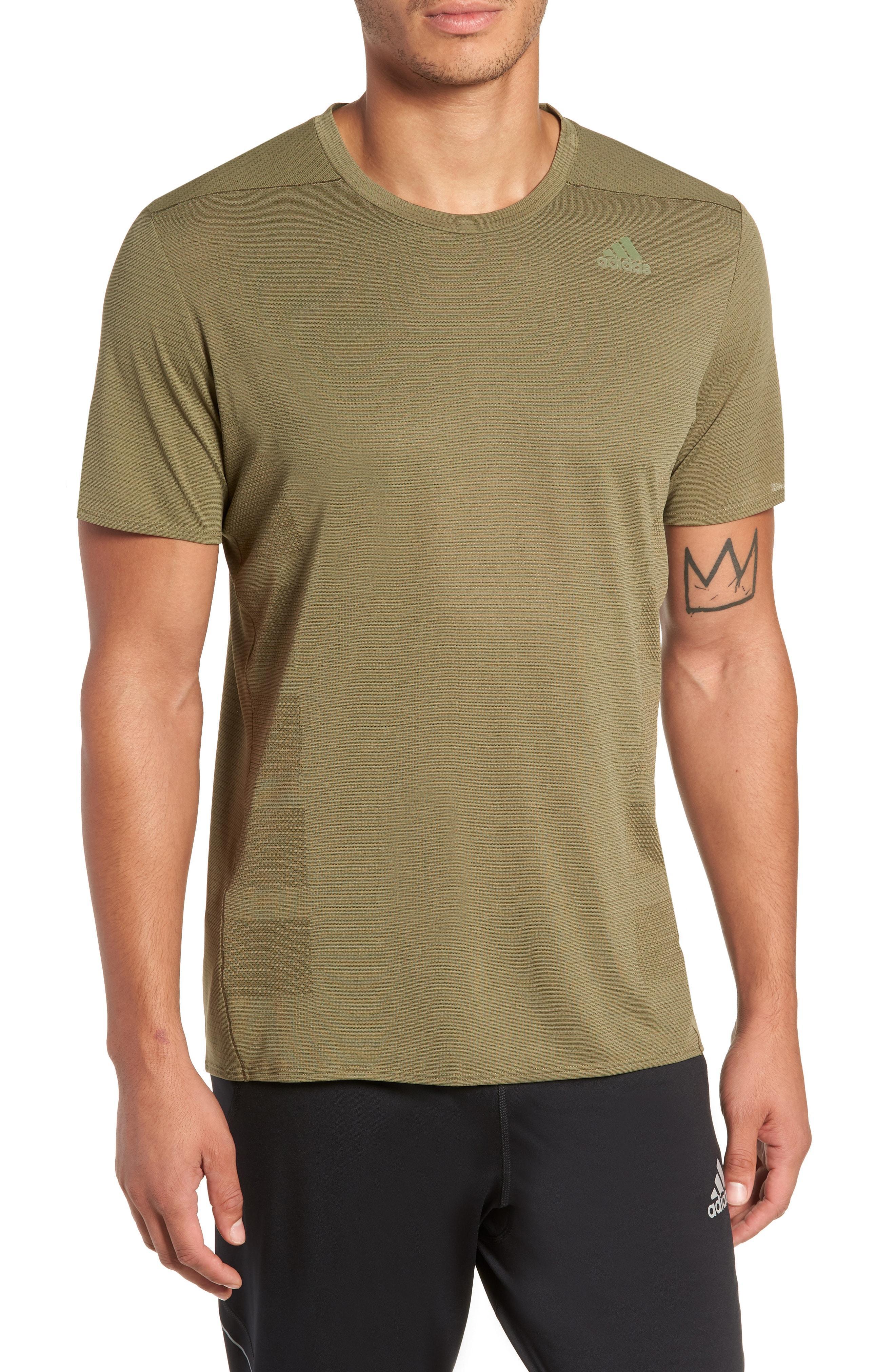 c552ddce04431 Lyst - adidas Supernova Running T-shirt in Green for Men