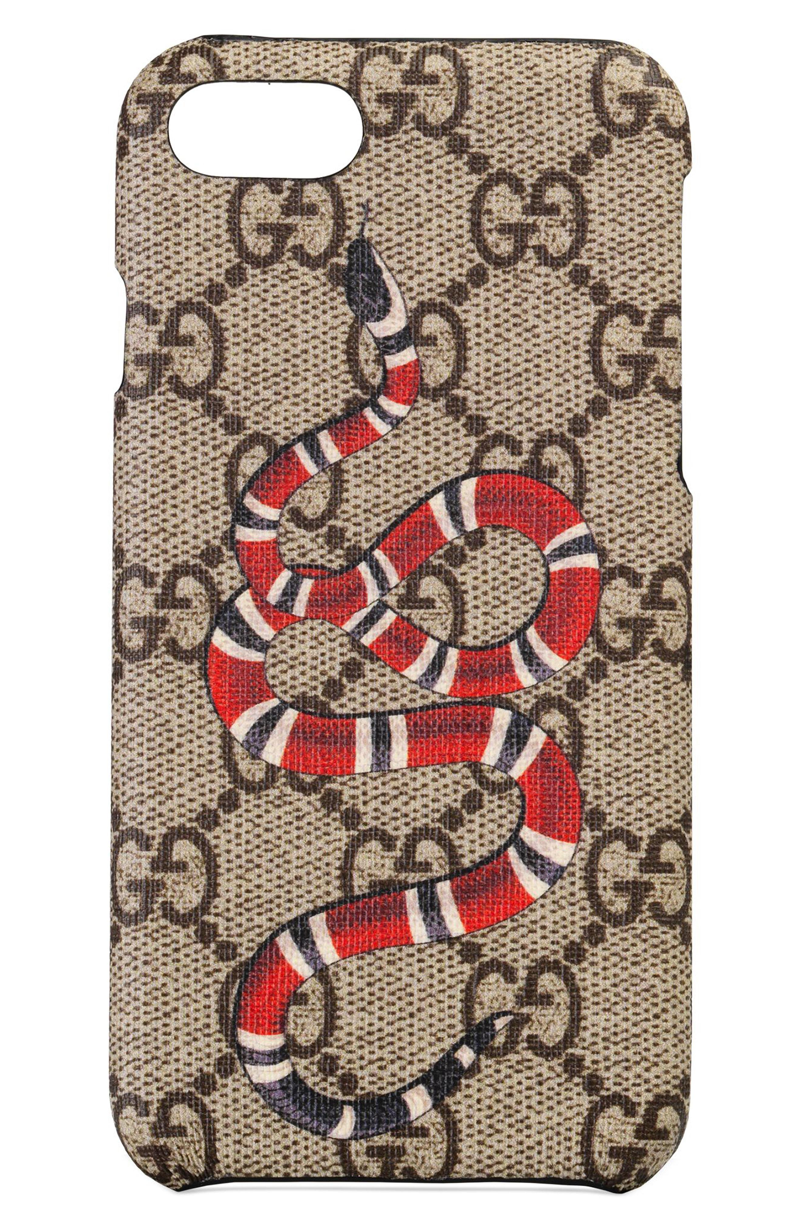 2a77fc748e89 Gucci Gg Supreme Snake Iphone 8 Case - for Men - Lyst