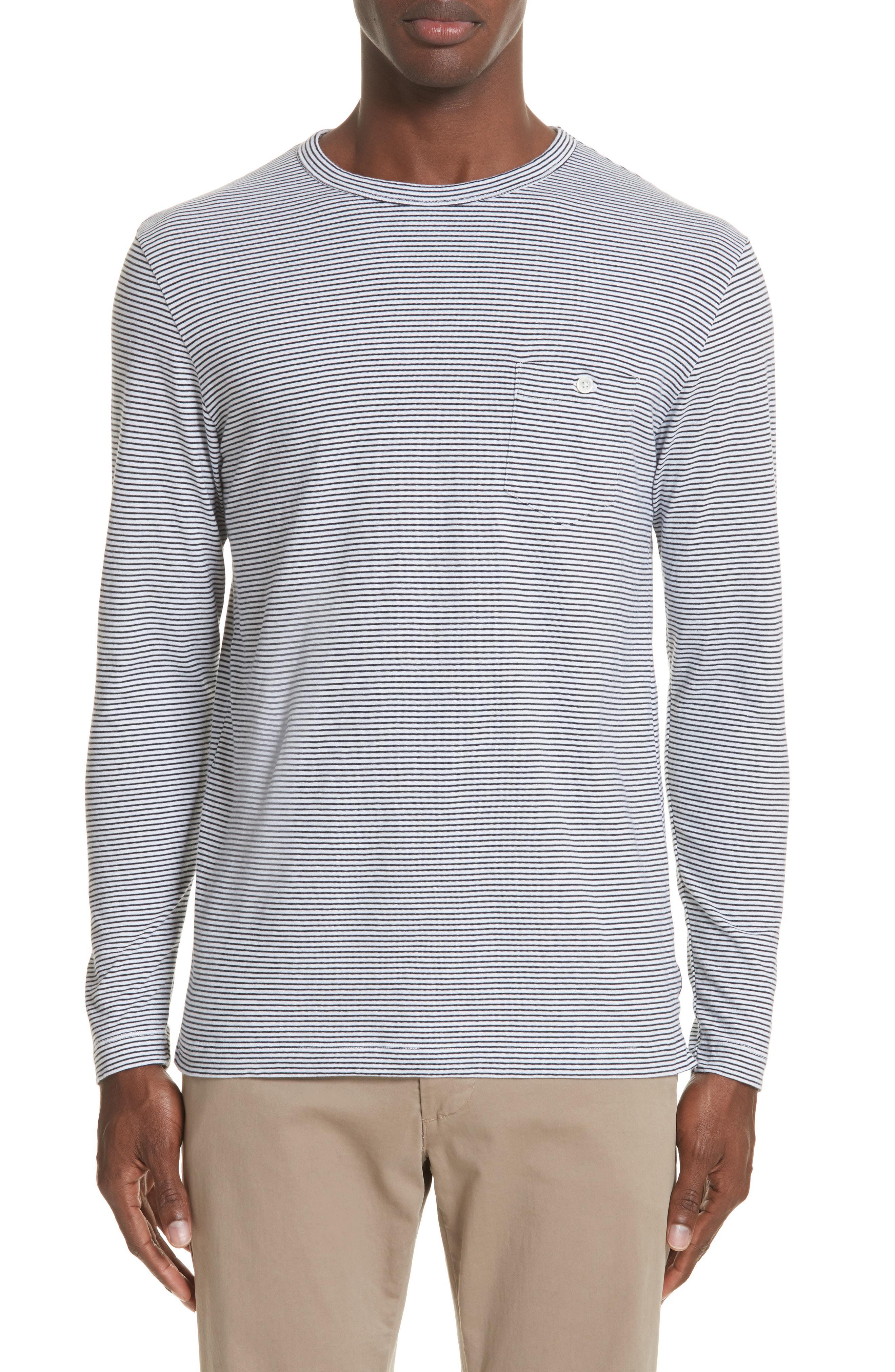 21894173 Lyst - Todd Snyder Stripe Long Sleeve T-shirt in Gray for Men