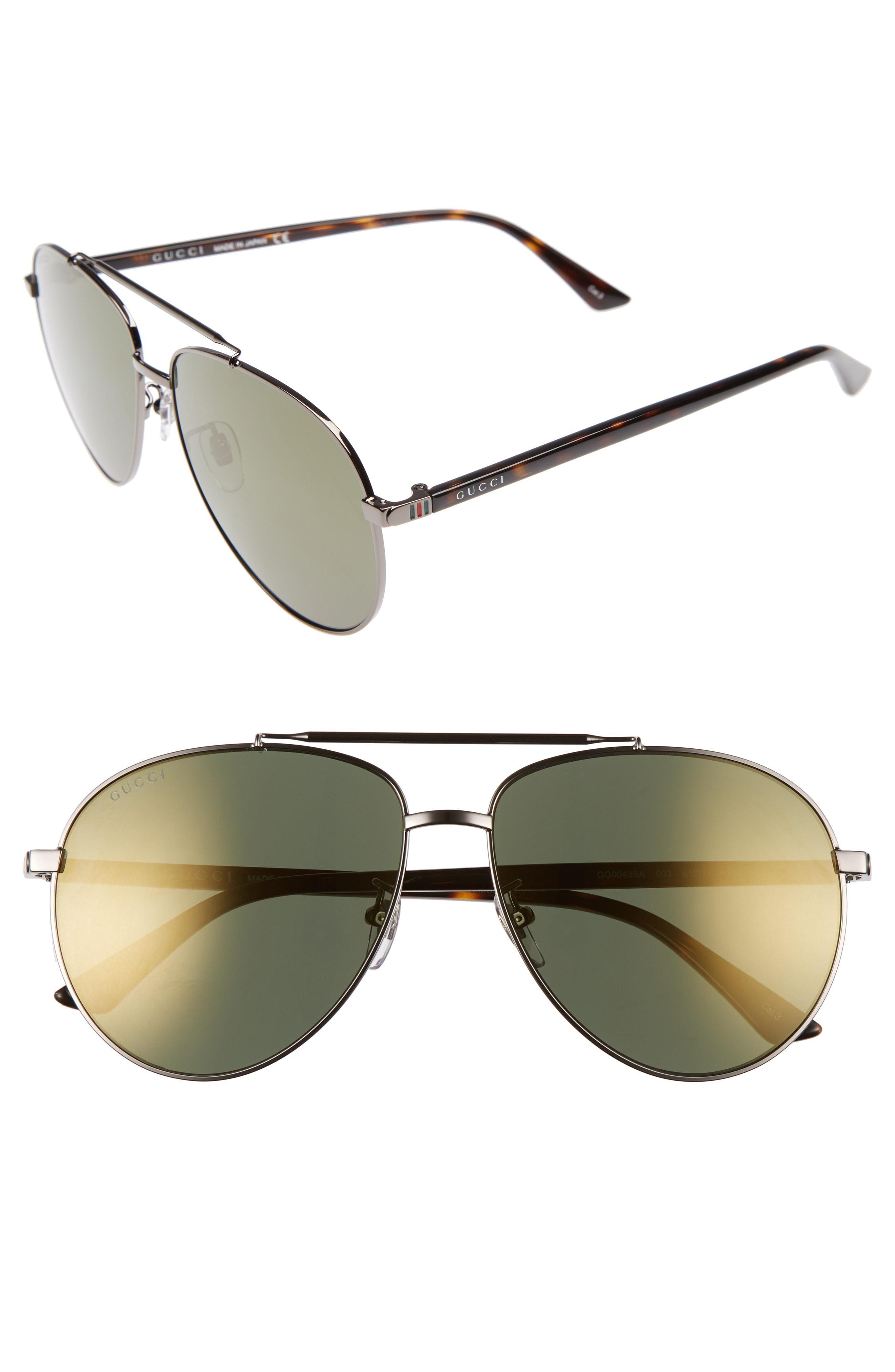 ad4288f3a9 Gucci - Metallic Retro Web 61mm Aviator Sunglasses - Ruthenium W.mirror Gun  Lens for. View fullscreen