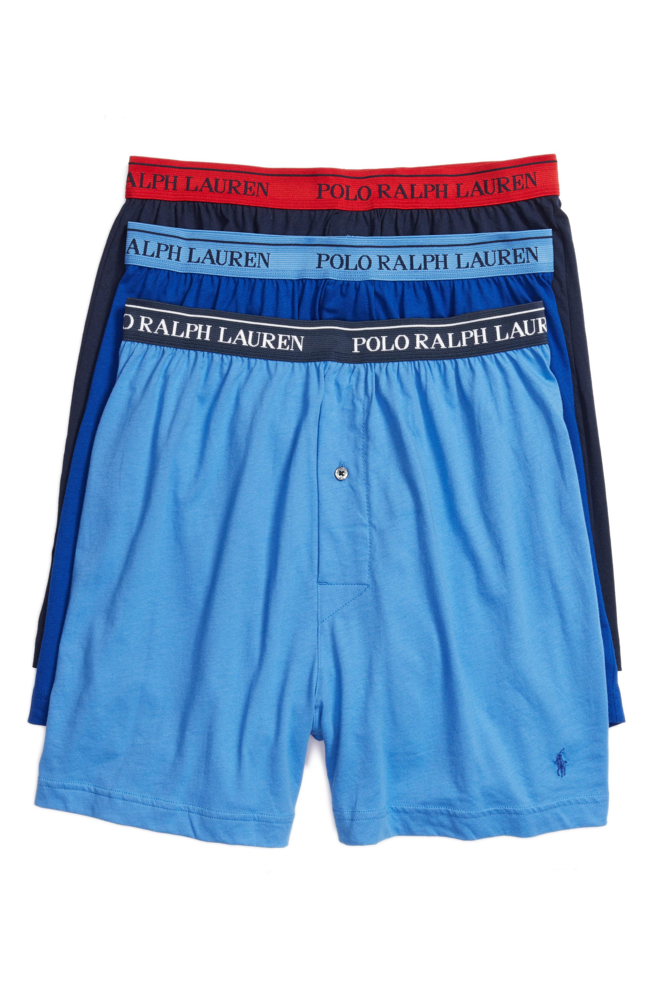 Lyst Boxers By 3 Ralph Polo Pack Cotton Lauren y0Ov8PmNnw